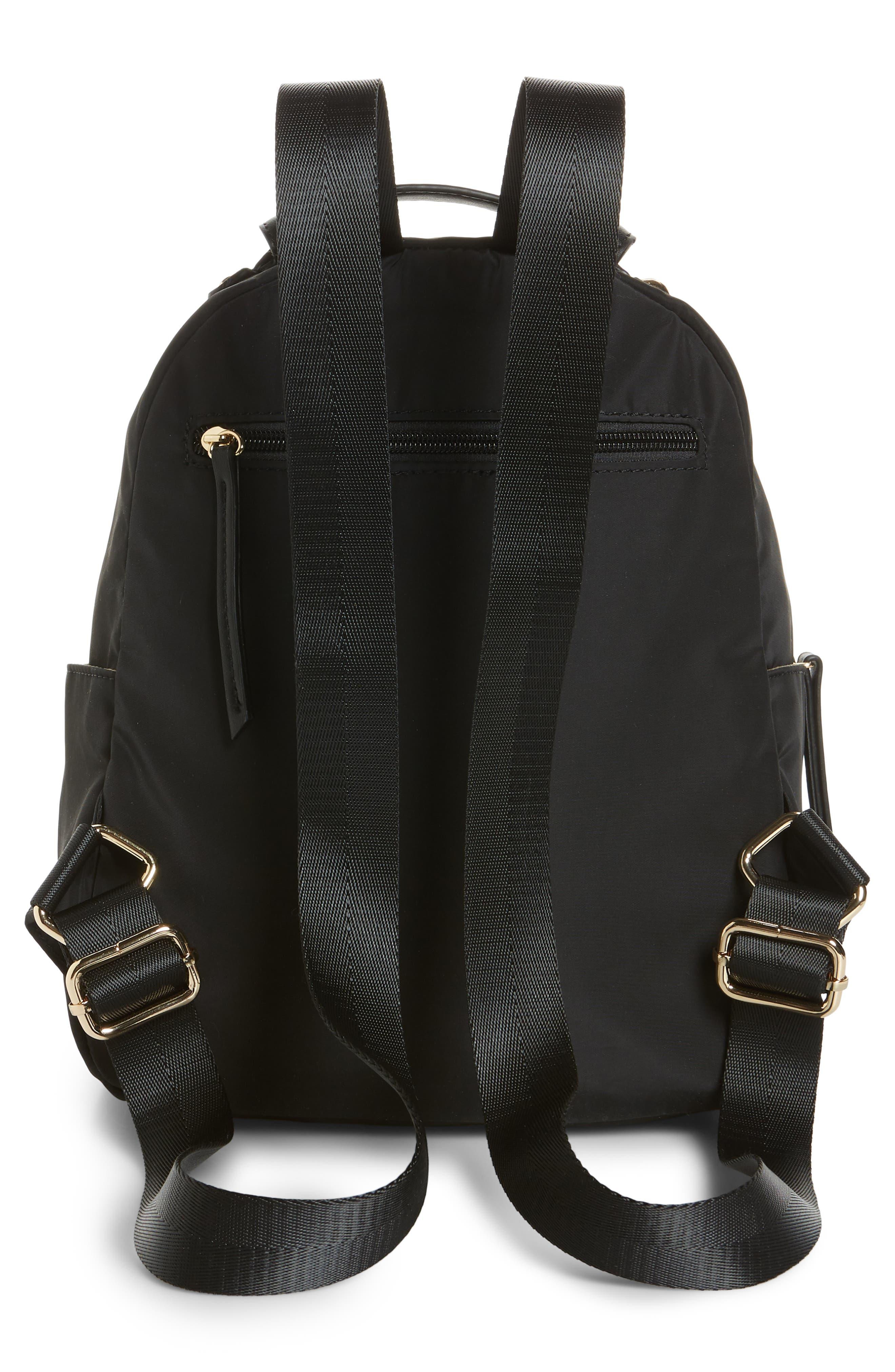 Nylon Backpack,                             Alternate thumbnail 3, color,                             001