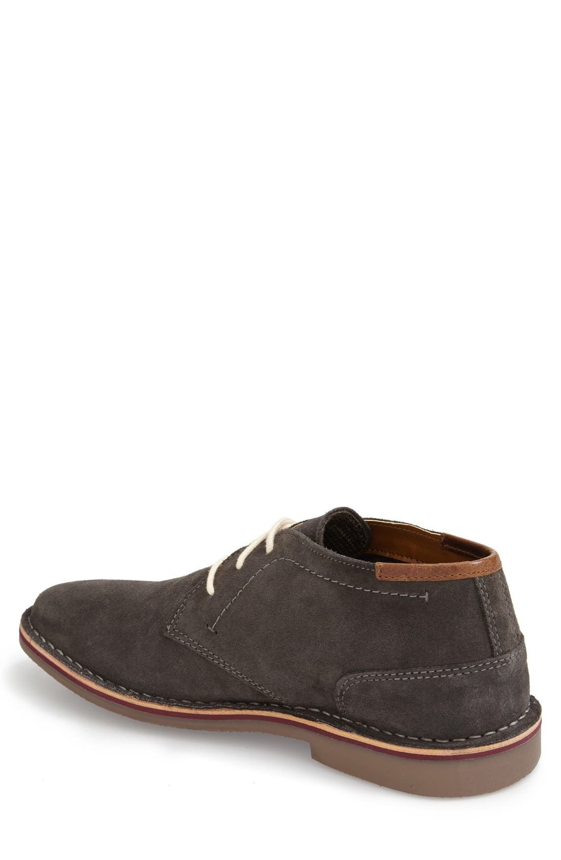 'Desert Sun' Chukka Boot,                             Alternate thumbnail 4, color,                             DARK GREY SUEDE
