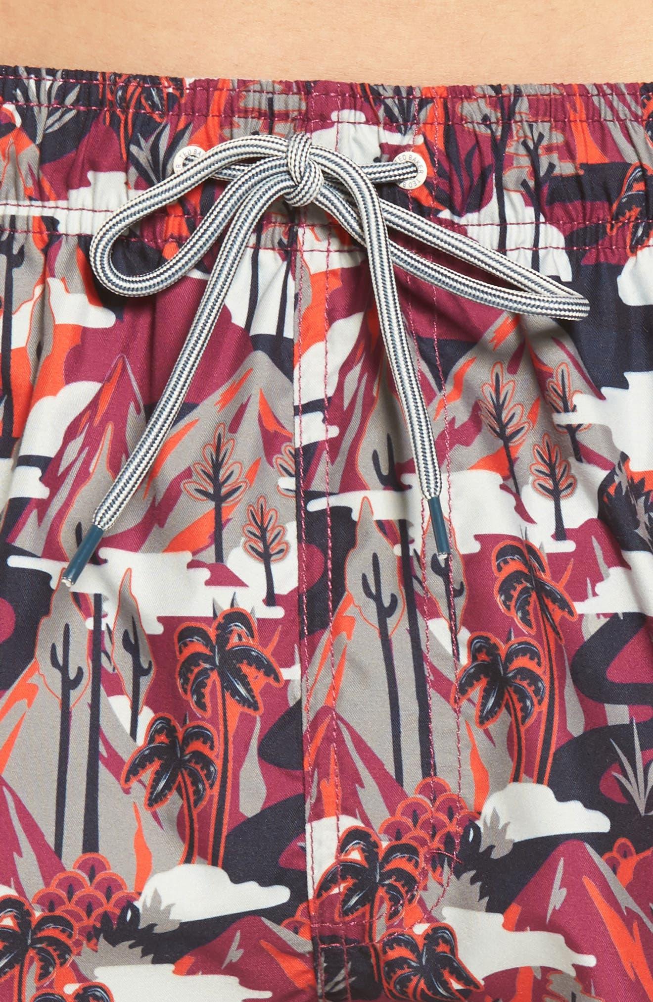 Karner Print Swim Trunks,                             Alternate thumbnail 8, color,