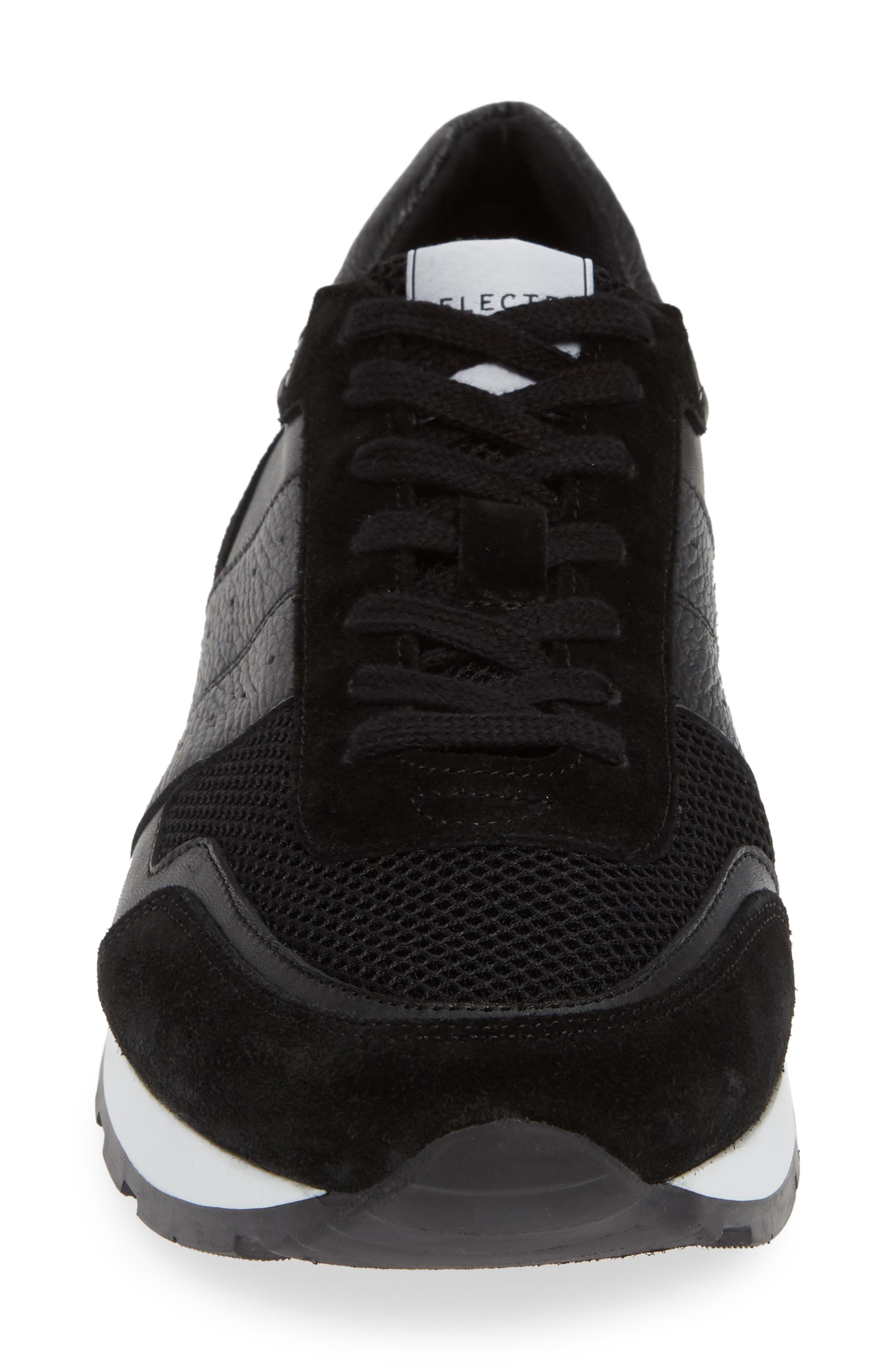 Frank Mix Runner Sneaker,                             Alternate thumbnail 4, color,                             BLACK