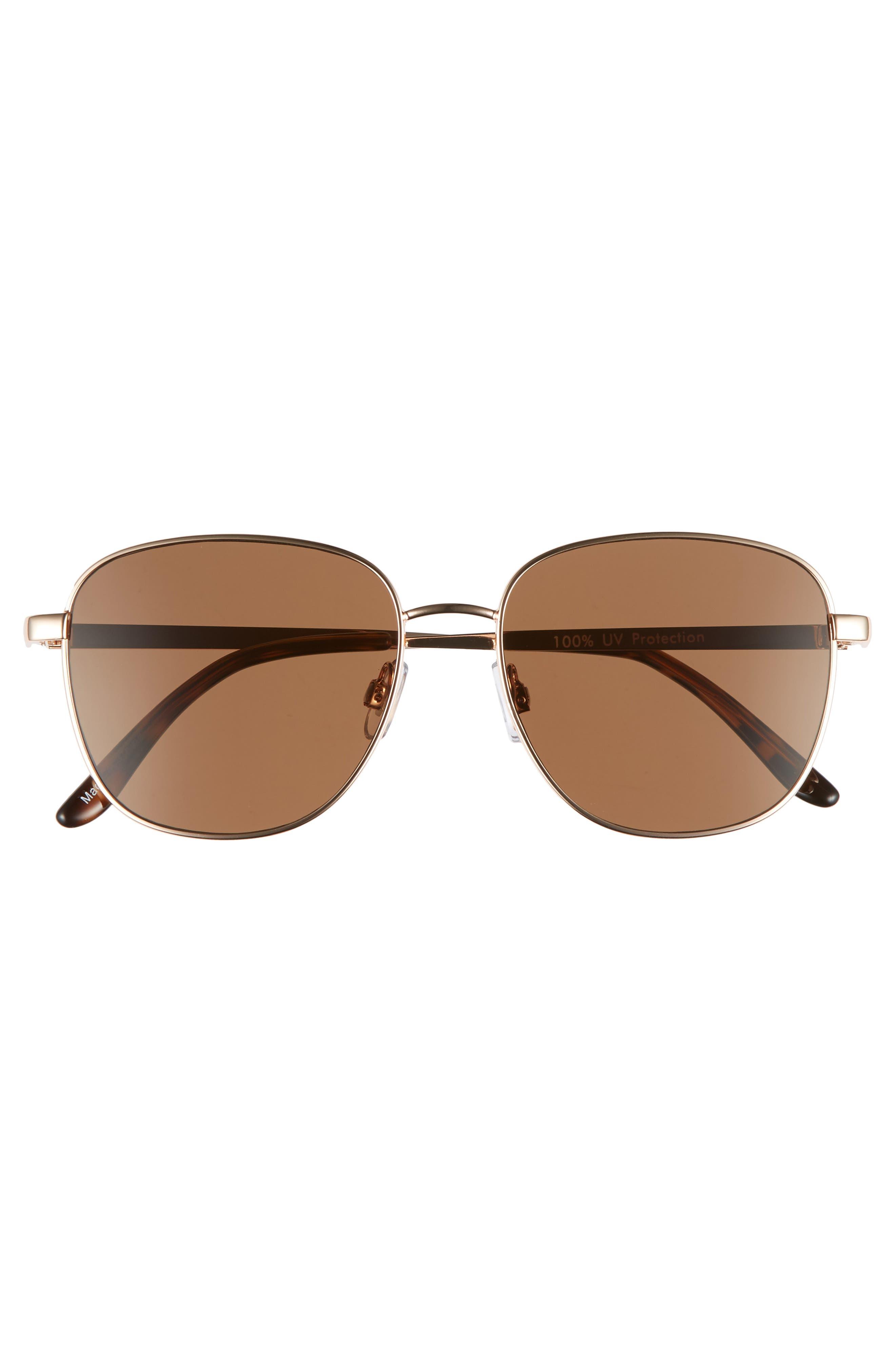 53mm Square Sunglasses,                             Alternate thumbnail 3, color,                             710