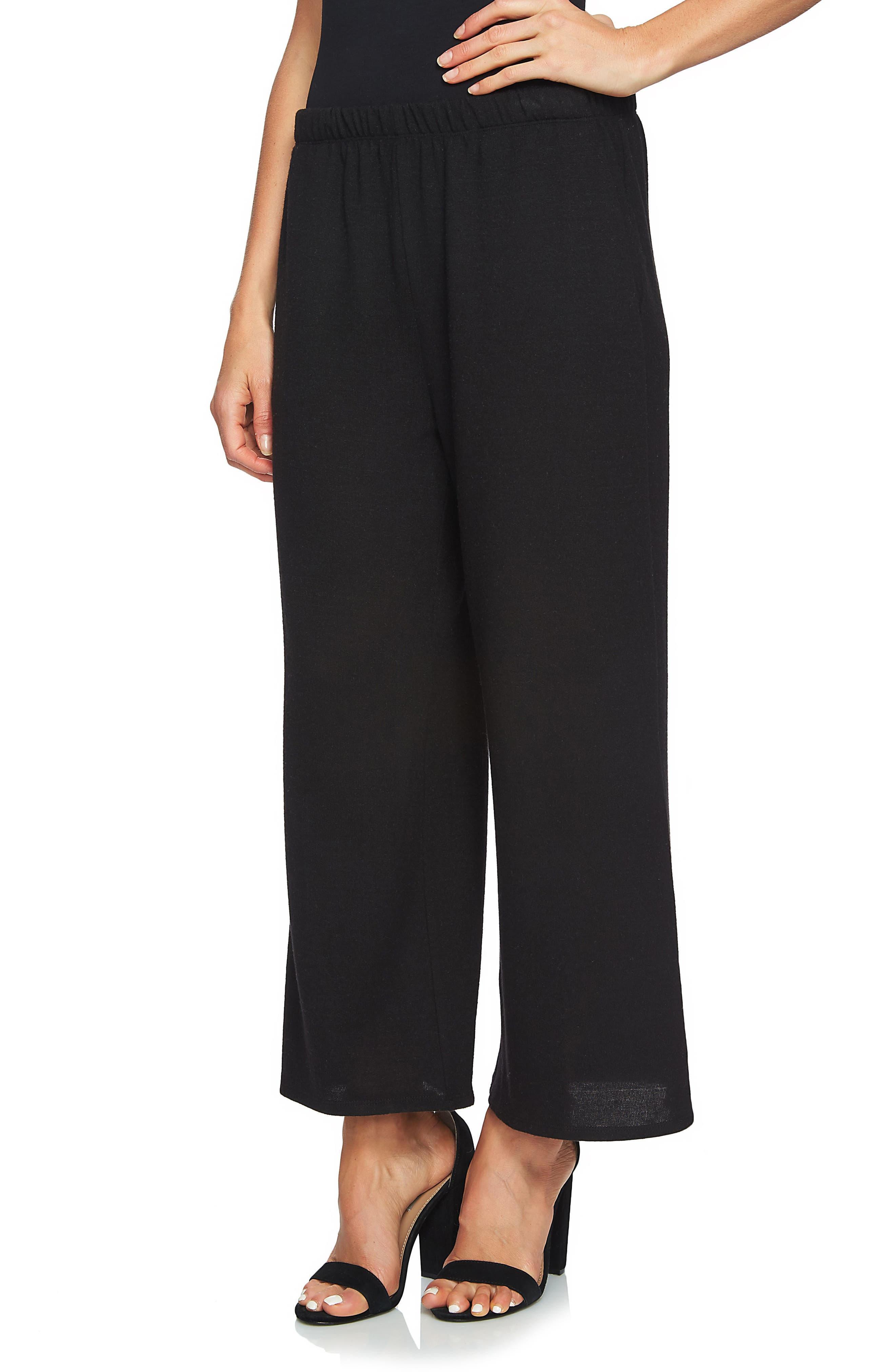Brushed Jersey Culottes,                             Alternate thumbnail 3, color,                             006