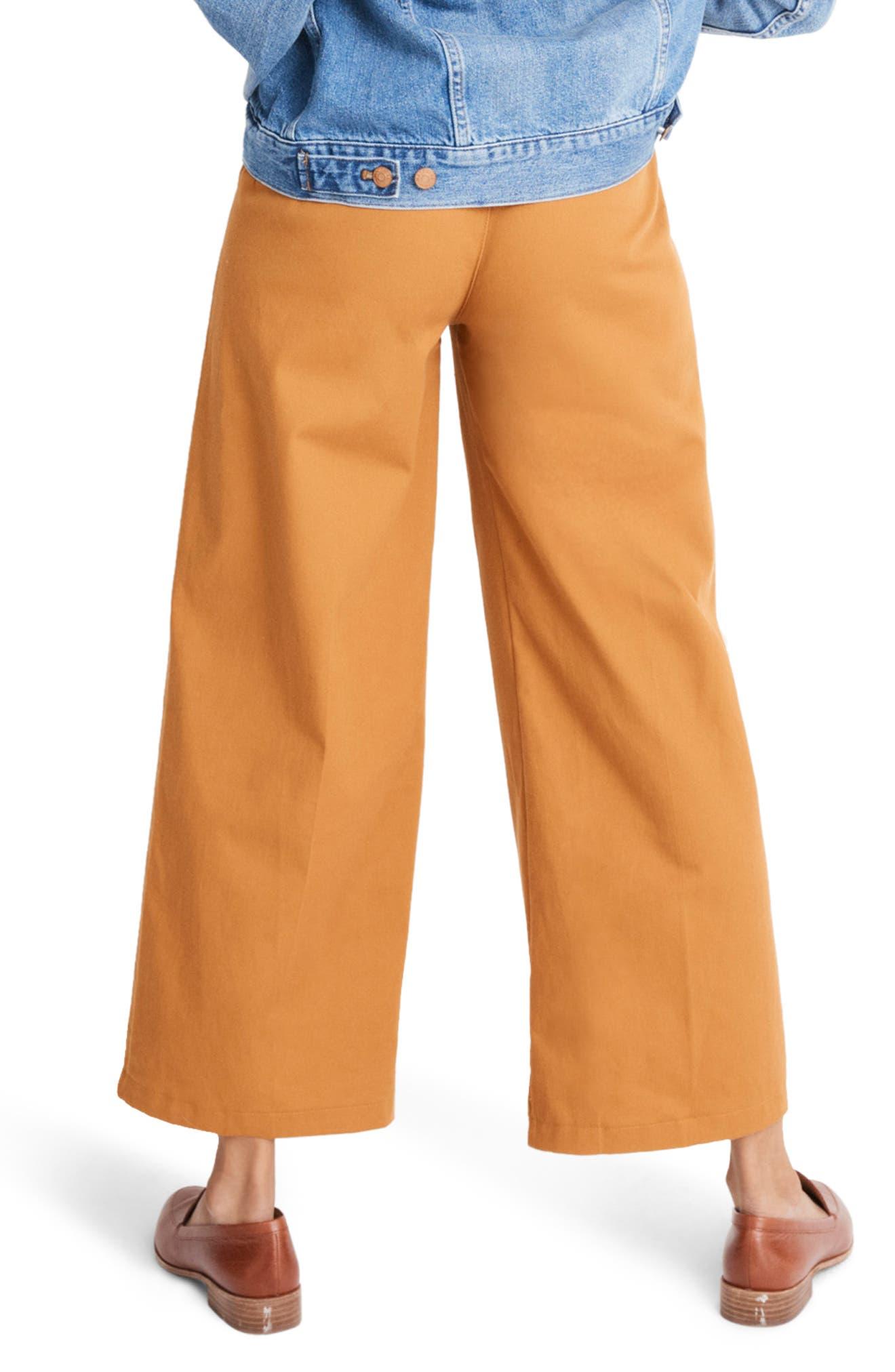 High Waist Crop Wide Leg Pants,                             Alternate thumbnail 2, color,                             GOLDEN PECAN