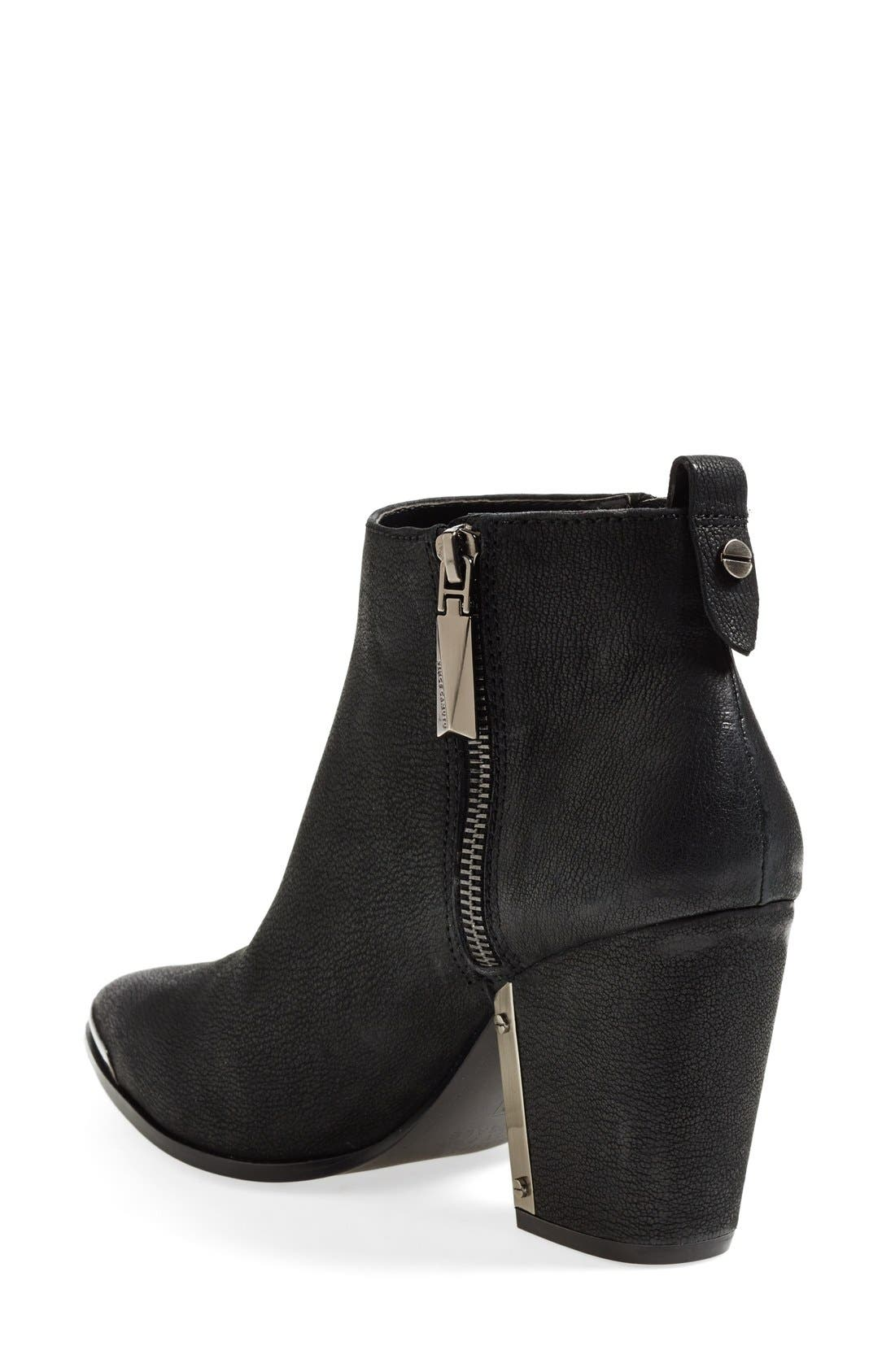 'Amori' Pointy Toe Leather Bootie,                             Alternate thumbnail 4, color,                             003