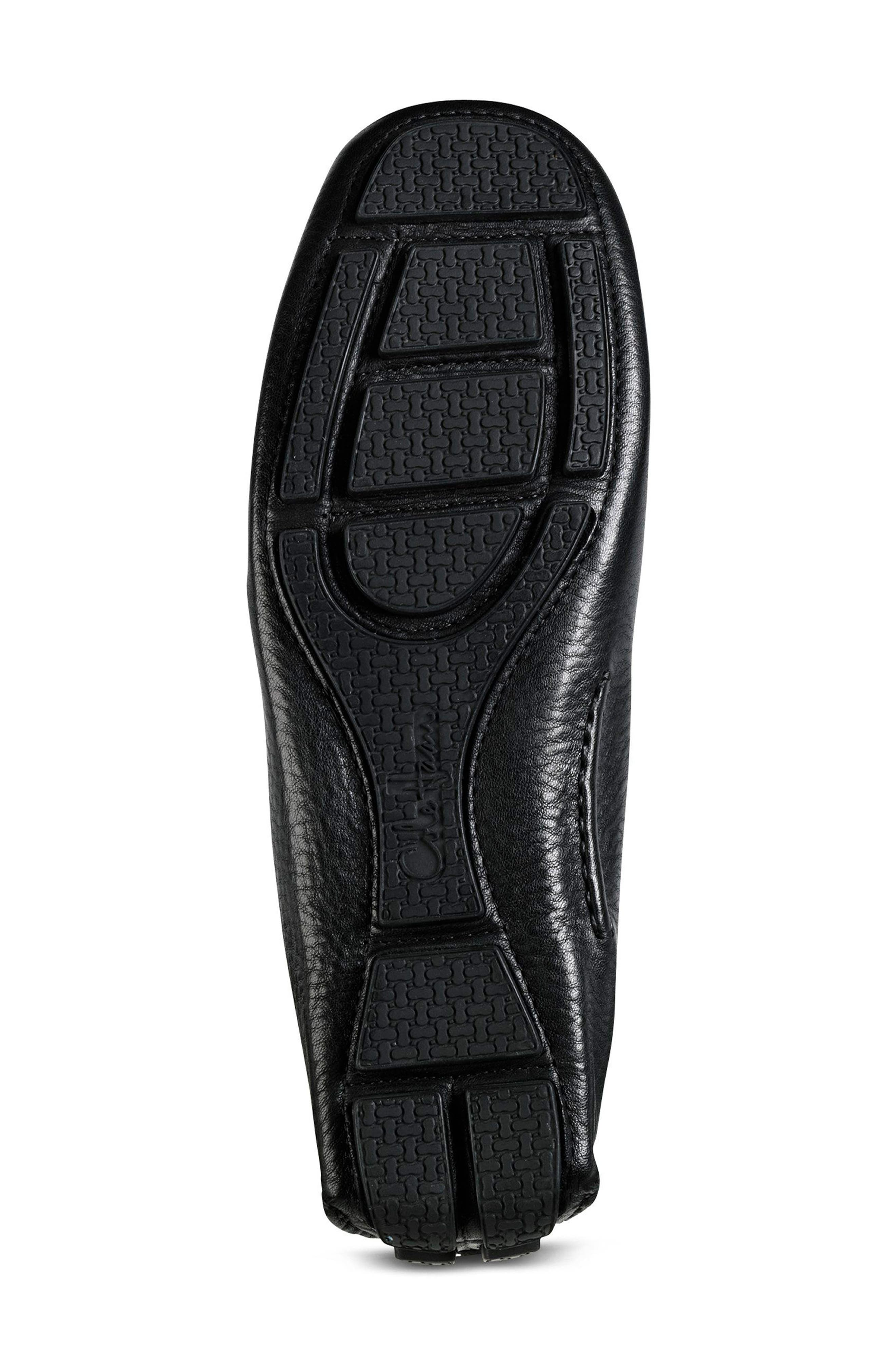 'Howland' Penny Loafer,                             Alternate thumbnail 7, color,                             BLACK TUMBLED