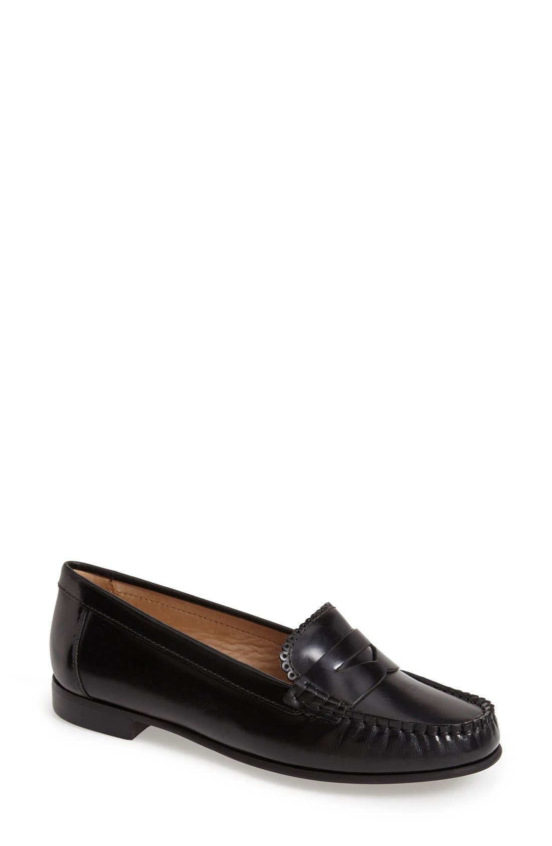 'Quinn' Leather Loafer,                             Main thumbnail 1, color,