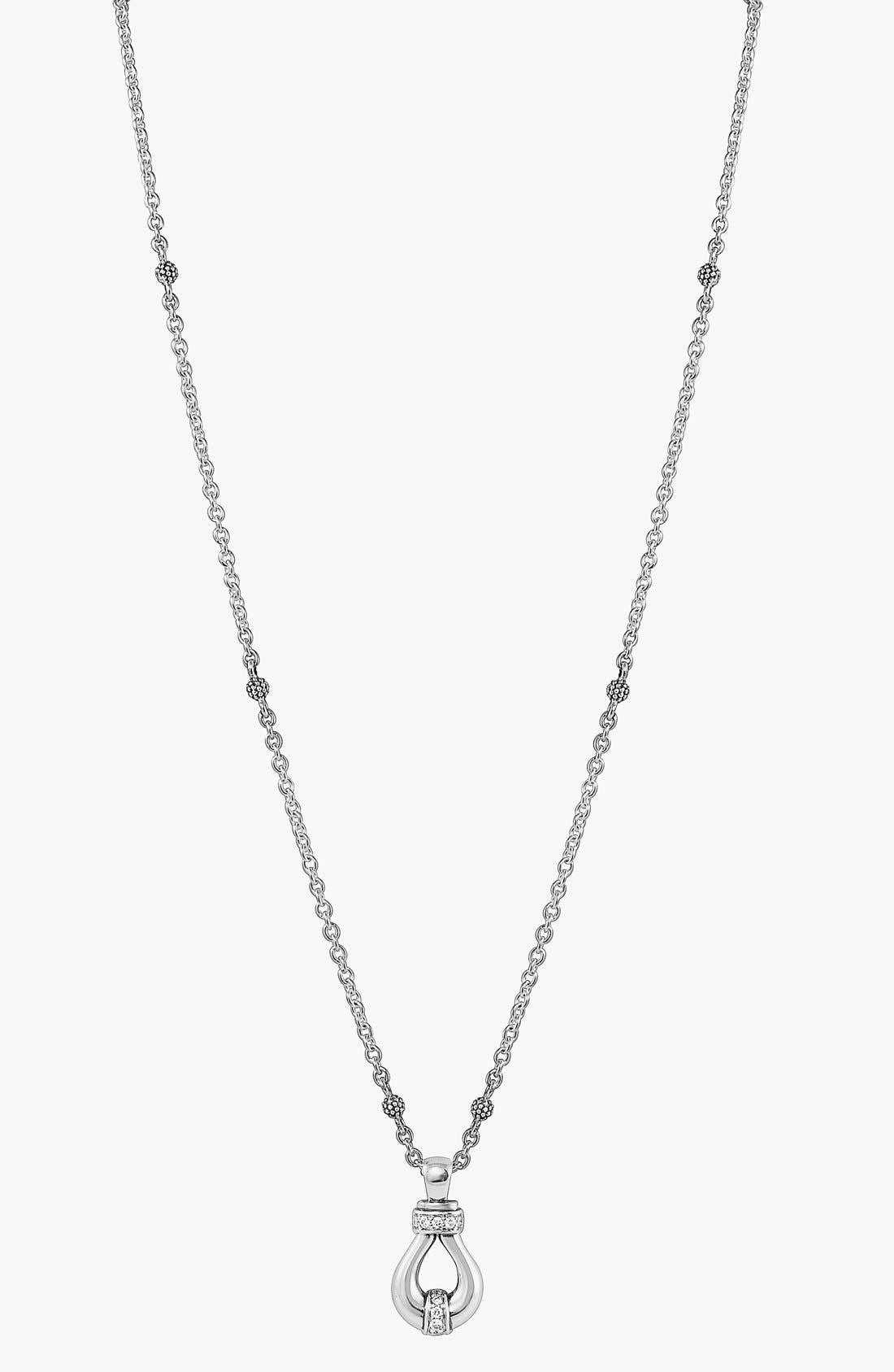 'Derby' Diamond Pendant Necklace,                             Alternate thumbnail 3, color,                             040