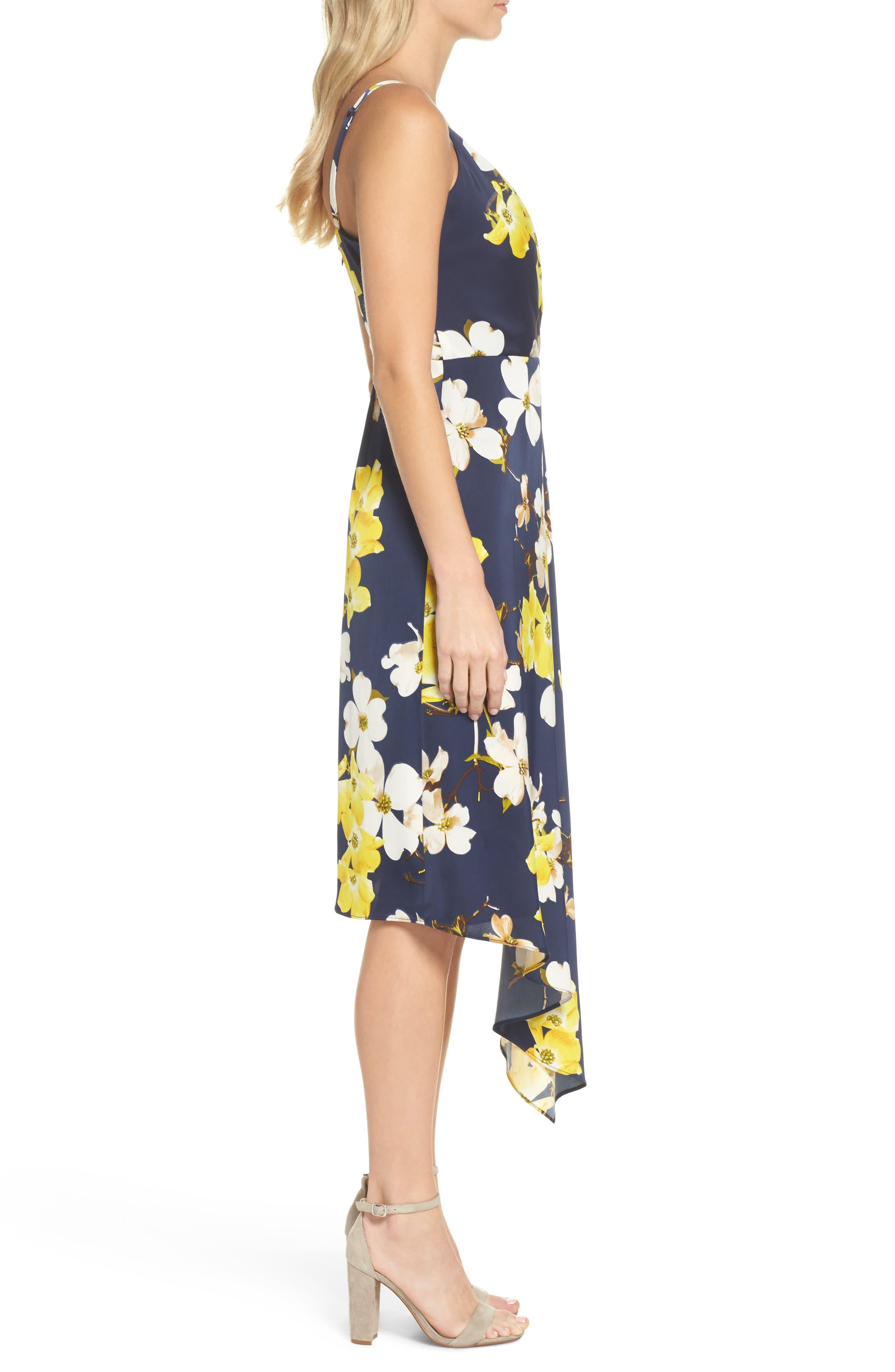 Asymmetrical Midi Dress,                             Alternate thumbnail 3, color,                             400