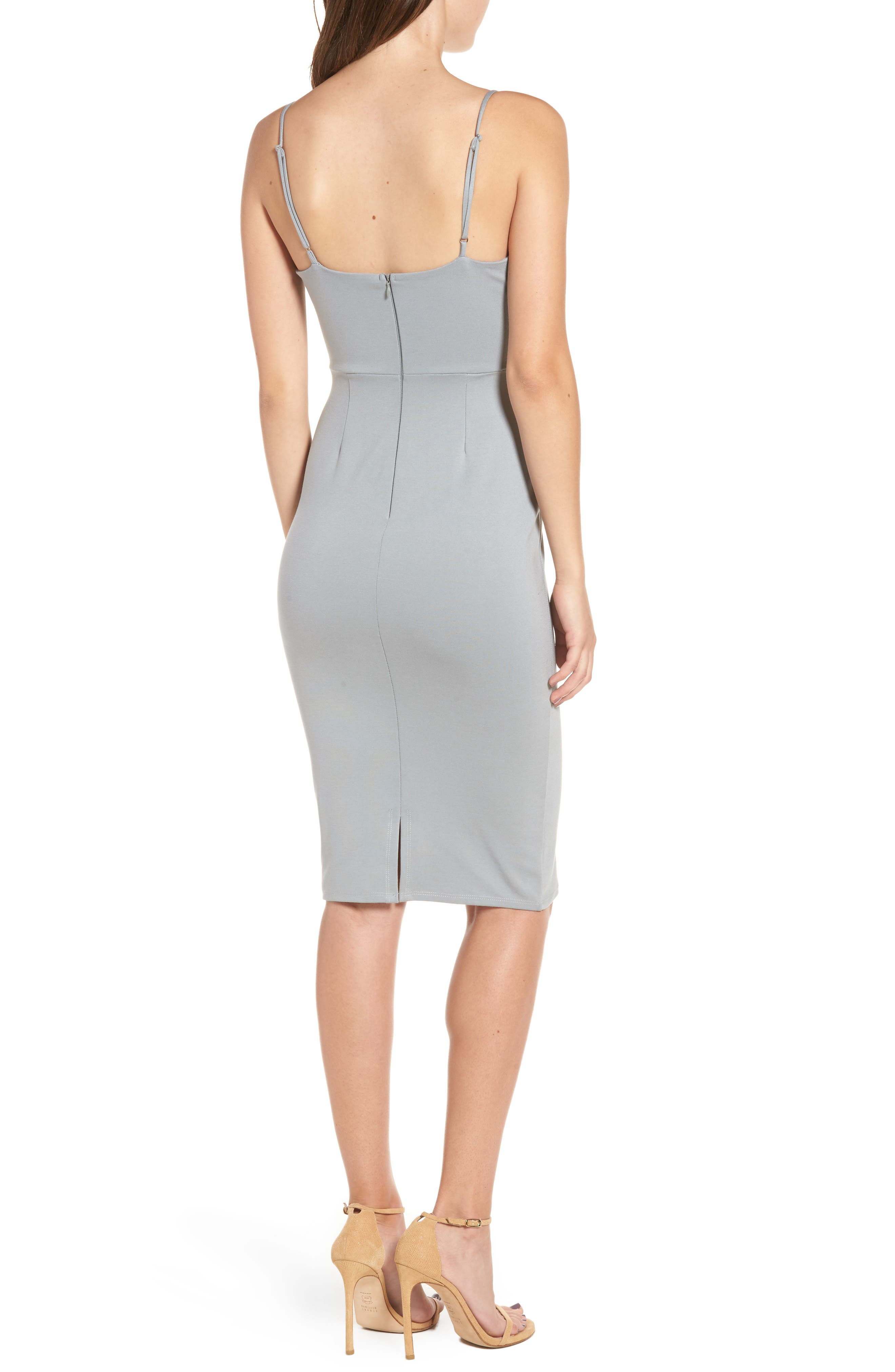 Corset Detail Body-Con Dress,                             Alternate thumbnail 4, color,