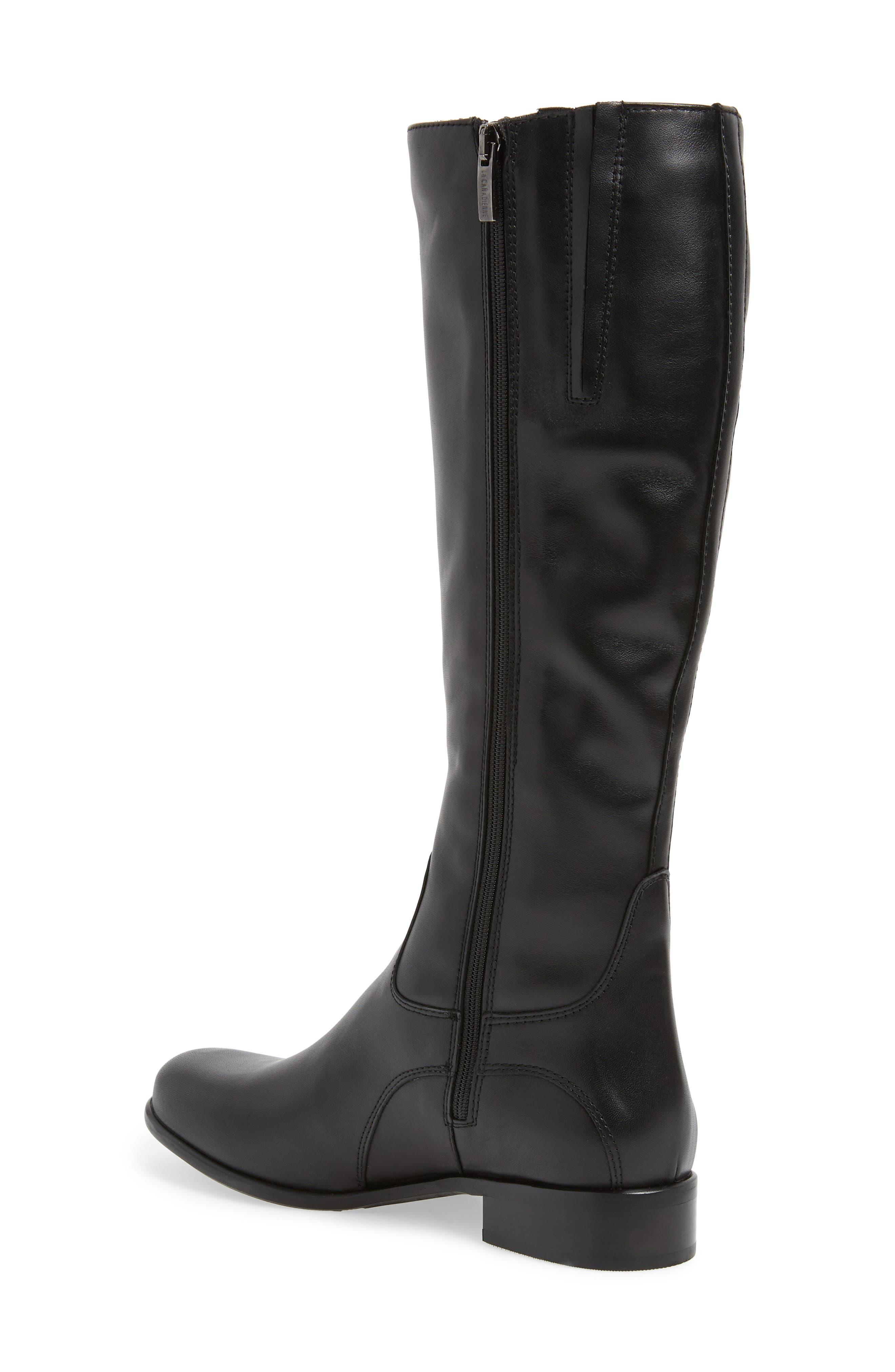 'Stefanie' Waterproof Boot,                             Alternate thumbnail 3, color,                             BLACK LEATHER