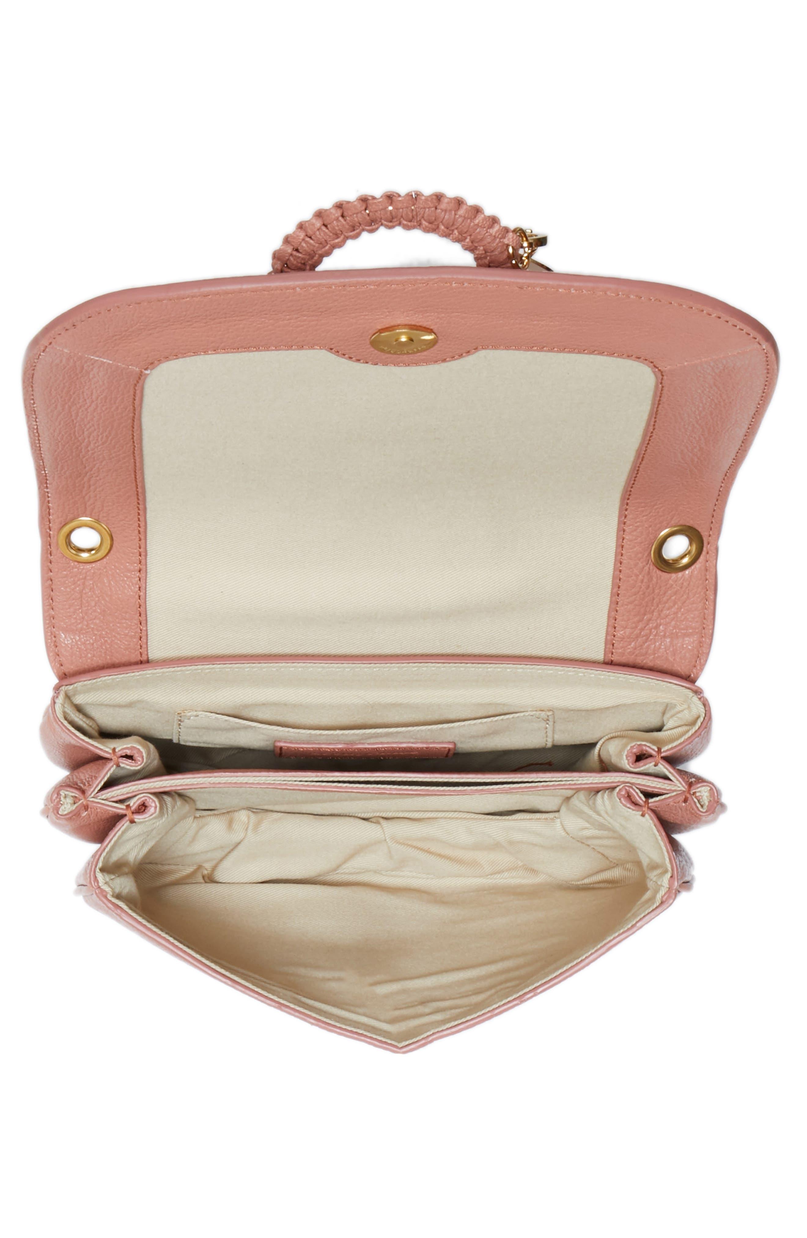 Hana Small Leather Crossbody Bag,                             Alternate thumbnail 23, color,