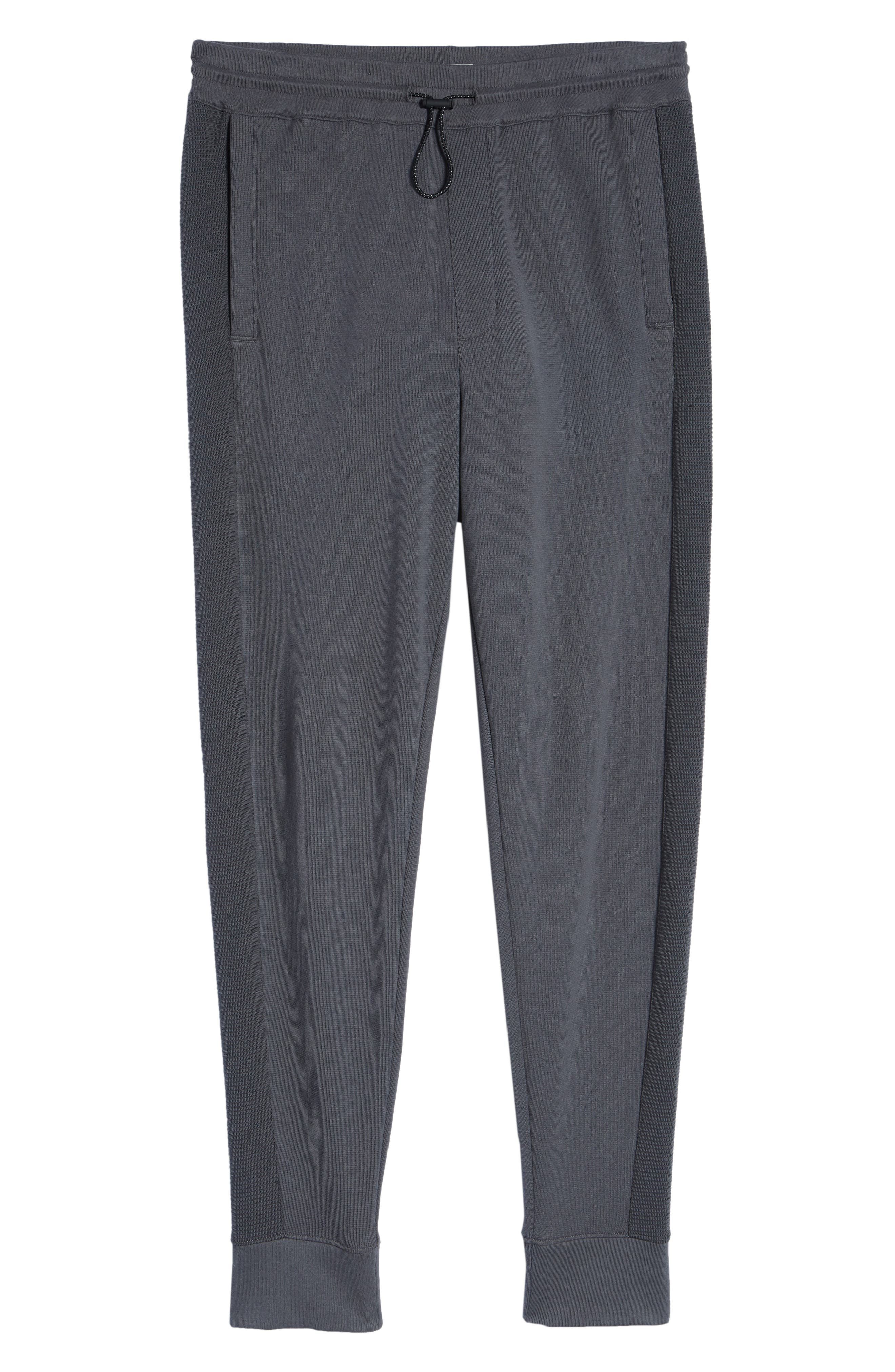 Ottoman Stitch Sweatpants,                             Alternate thumbnail 6, color,                             SLATE