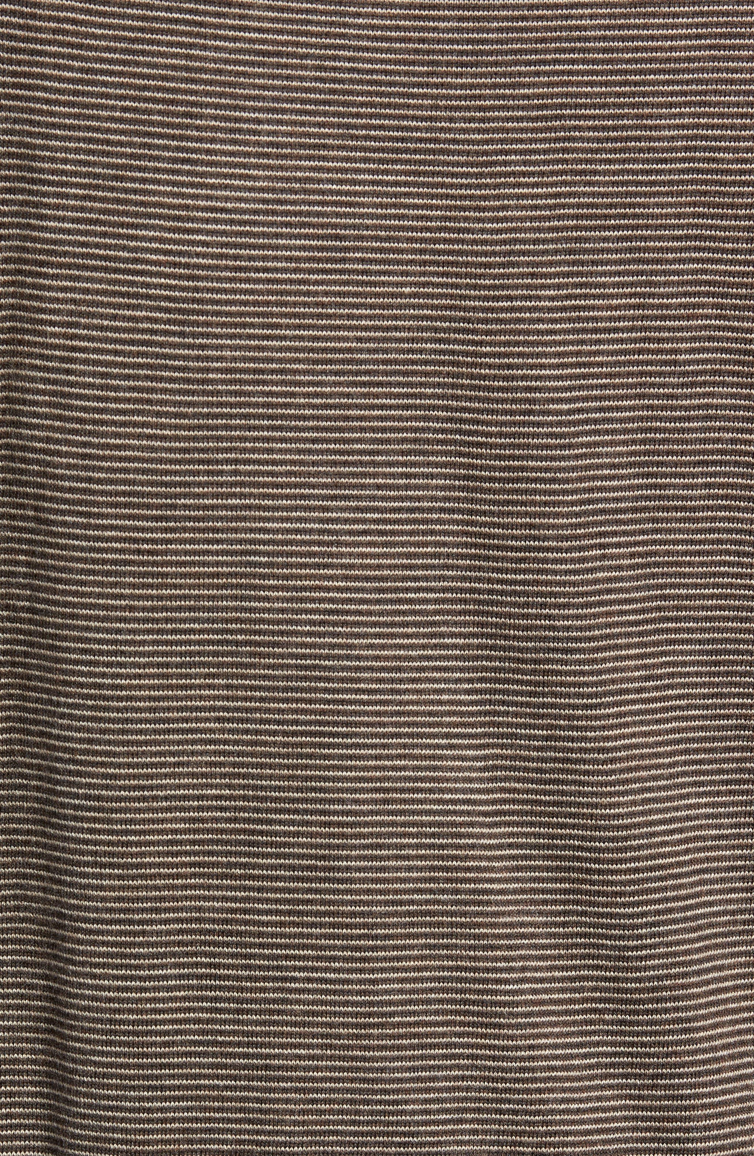 Needle Stripe Quarter Zip Sweater,                             Alternate thumbnail 5, color,                             200