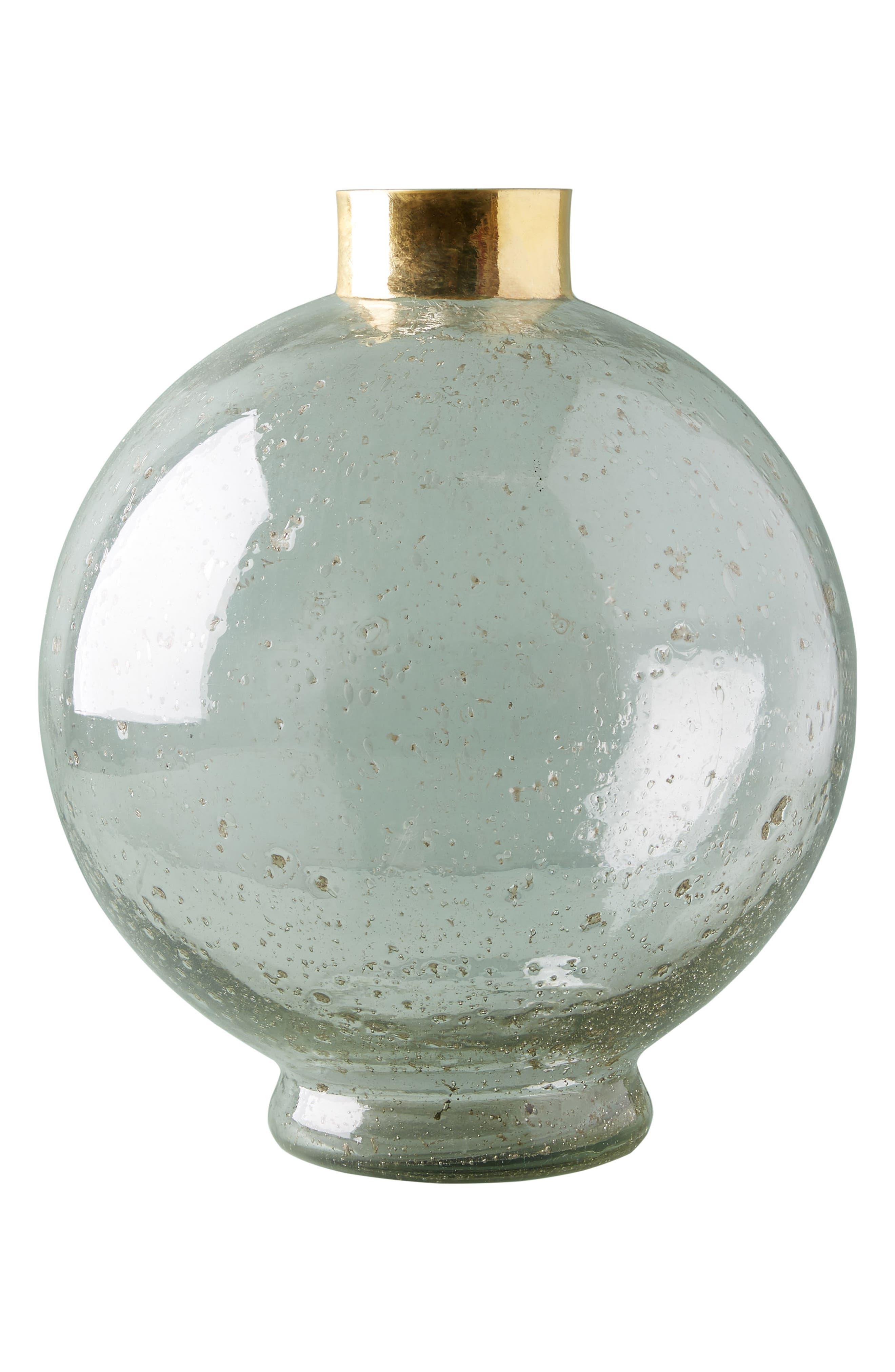 Gilded Large Sphere Vase,                             Alternate thumbnail 4, color,                             GOLD