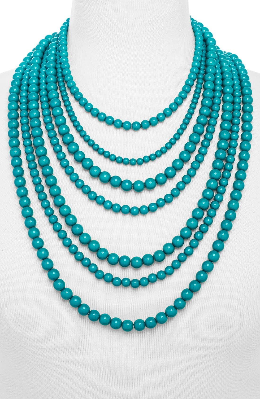 'Bold' Multistrand Beaded Statement Necklace,                             Alternate thumbnail 16, color,