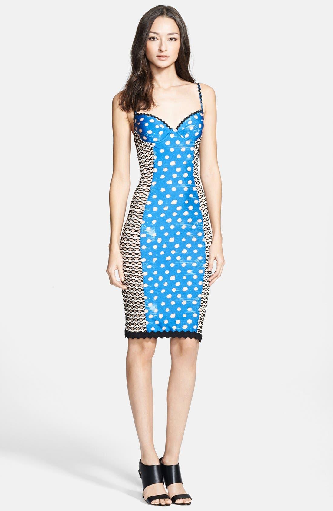Jean Paul Gaultier Corset Tank Dress, Main, color, 400