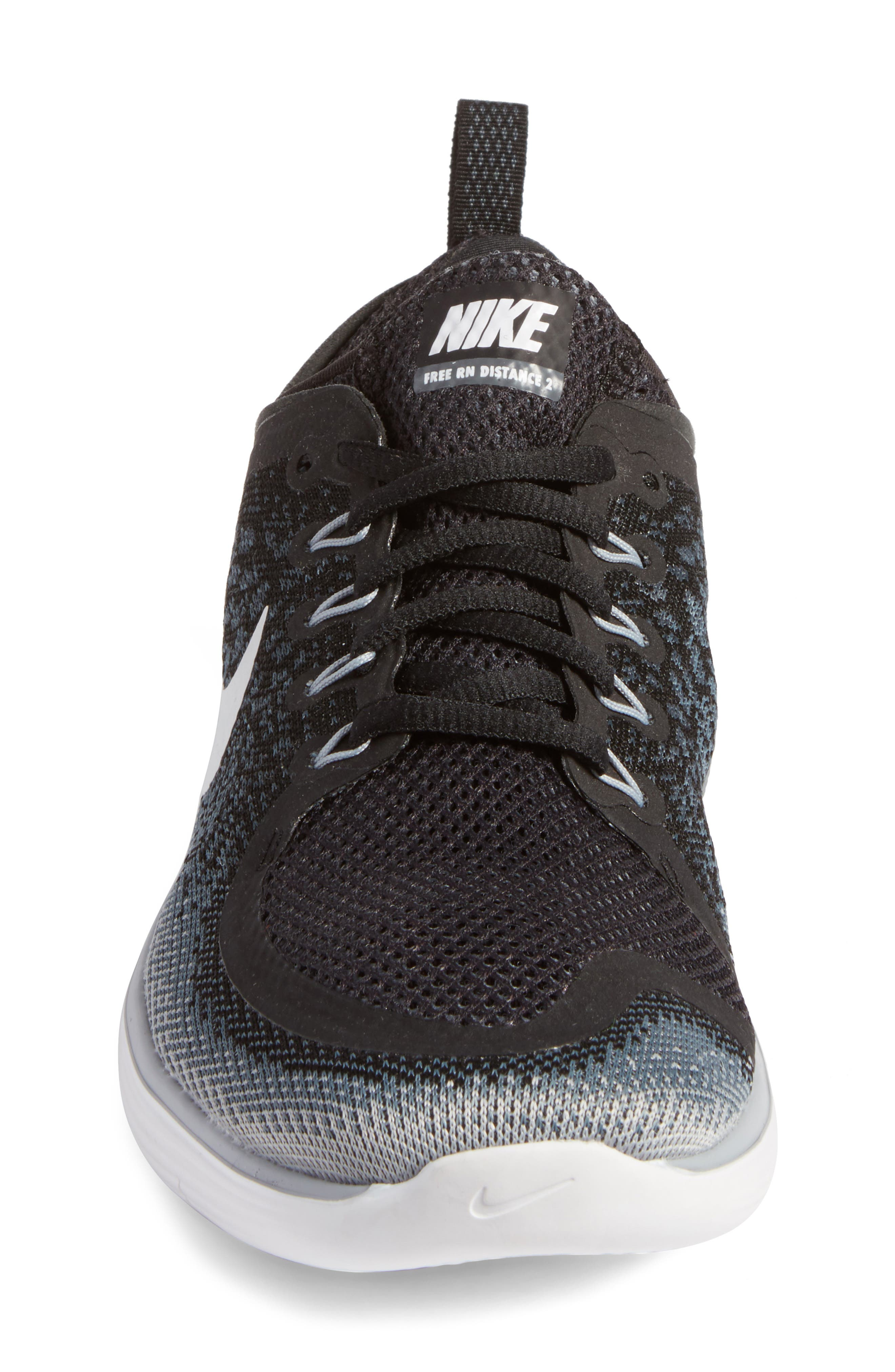 Free Run Distance 2 Running Shoe,                             Alternate thumbnail 4, color,                             001
