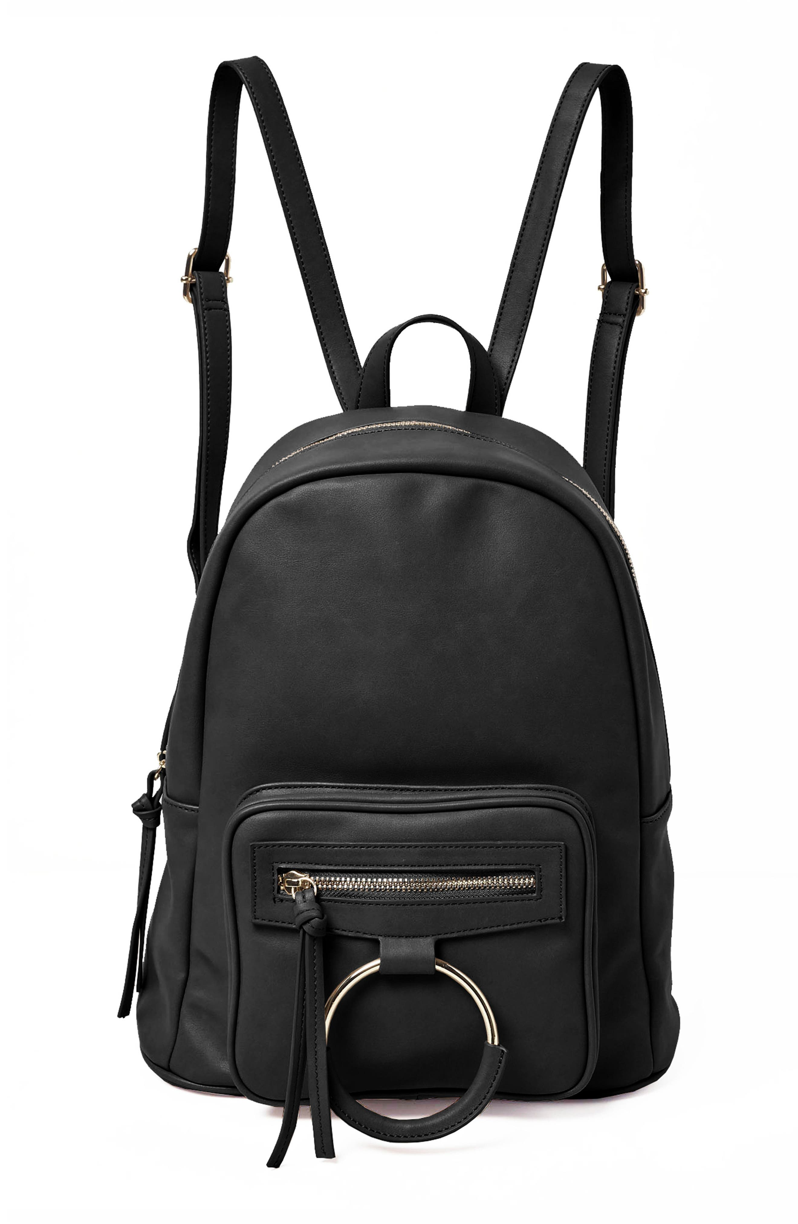Sublime Vegan Leather Backpack,                             Main thumbnail 1, color,                             001