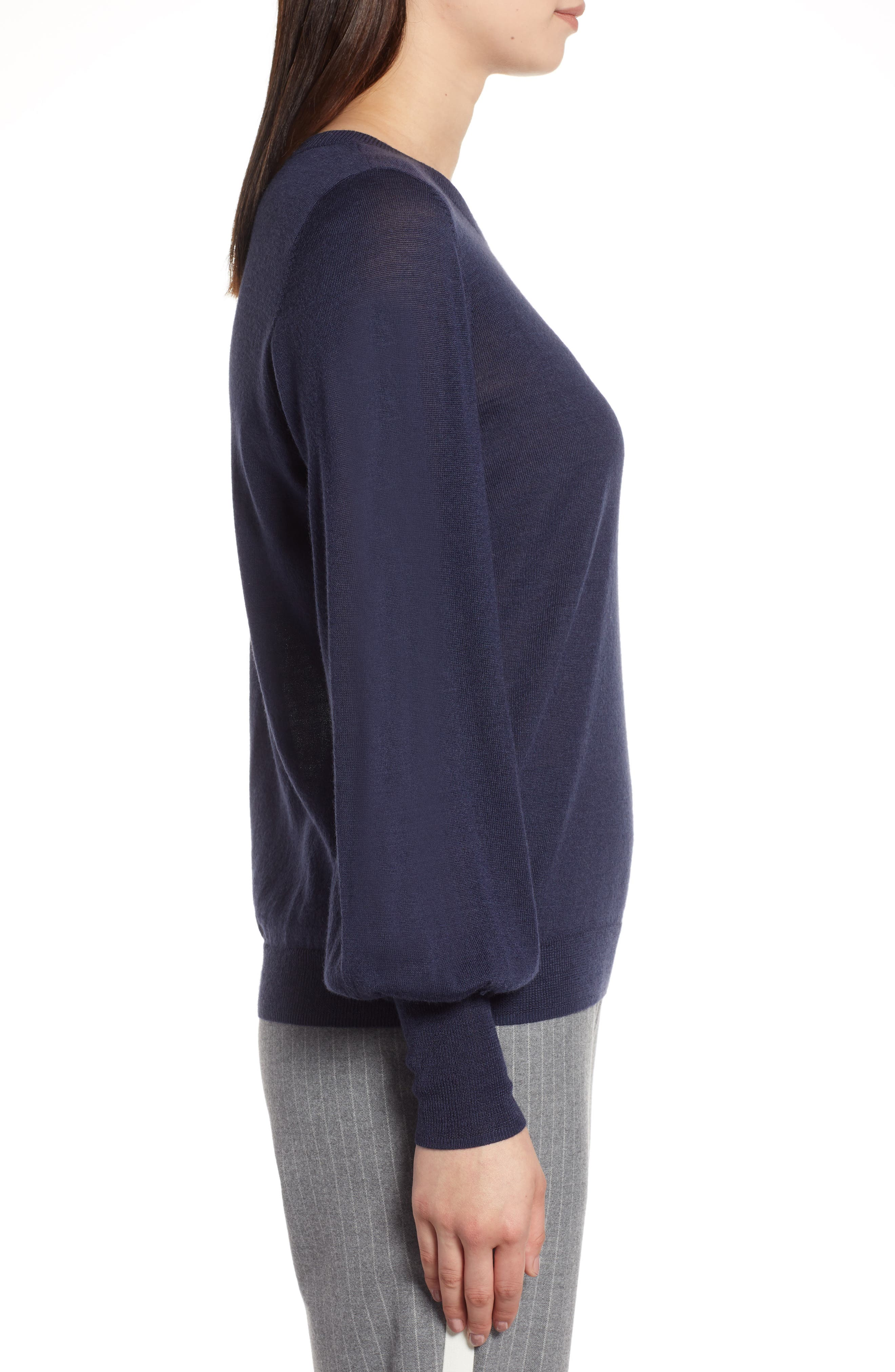 Puff Sleeve Sweater,                             Alternate thumbnail 26, color,