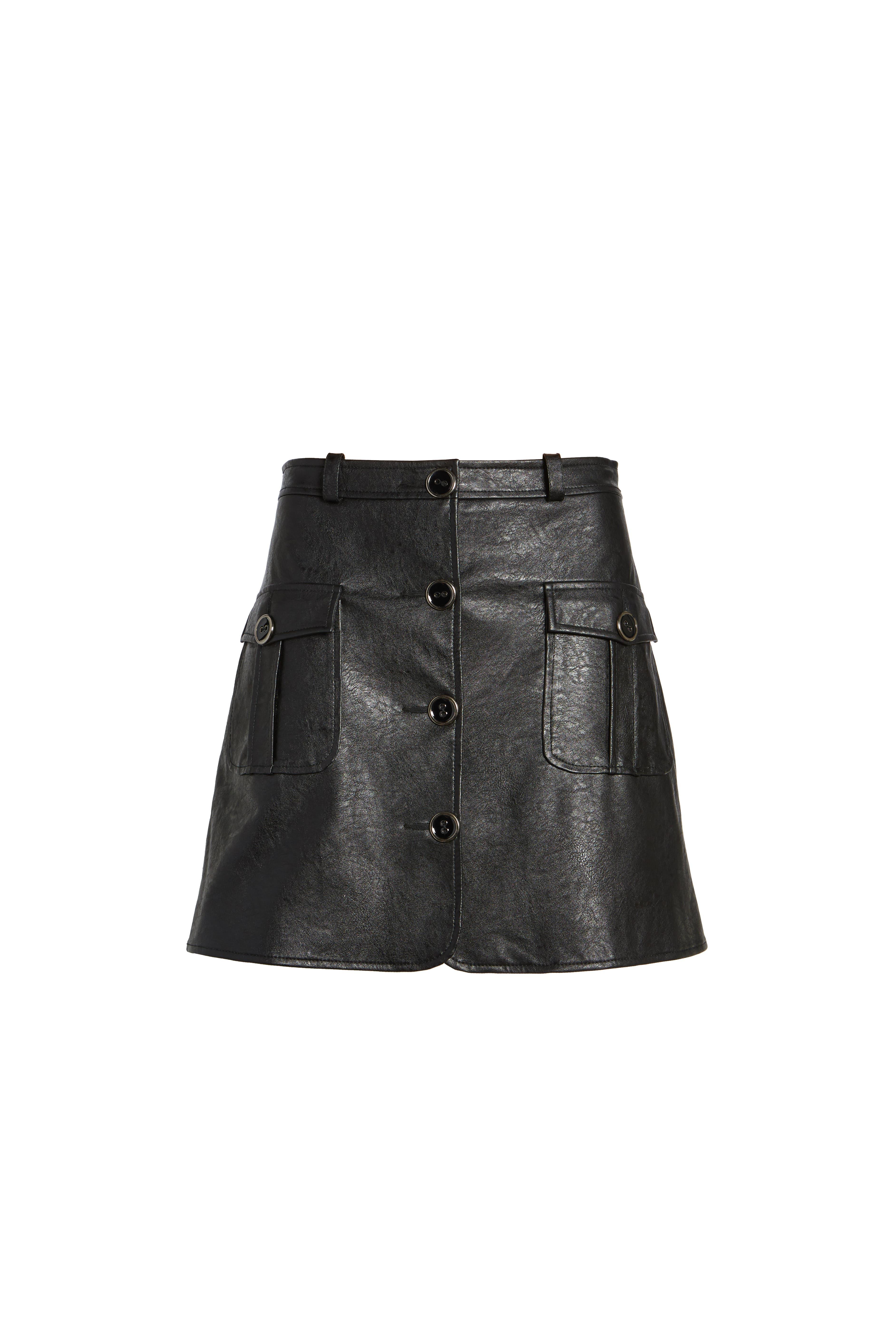 Envoy Faux Leather Moto Skirt,                             Alternate thumbnail 6, color,