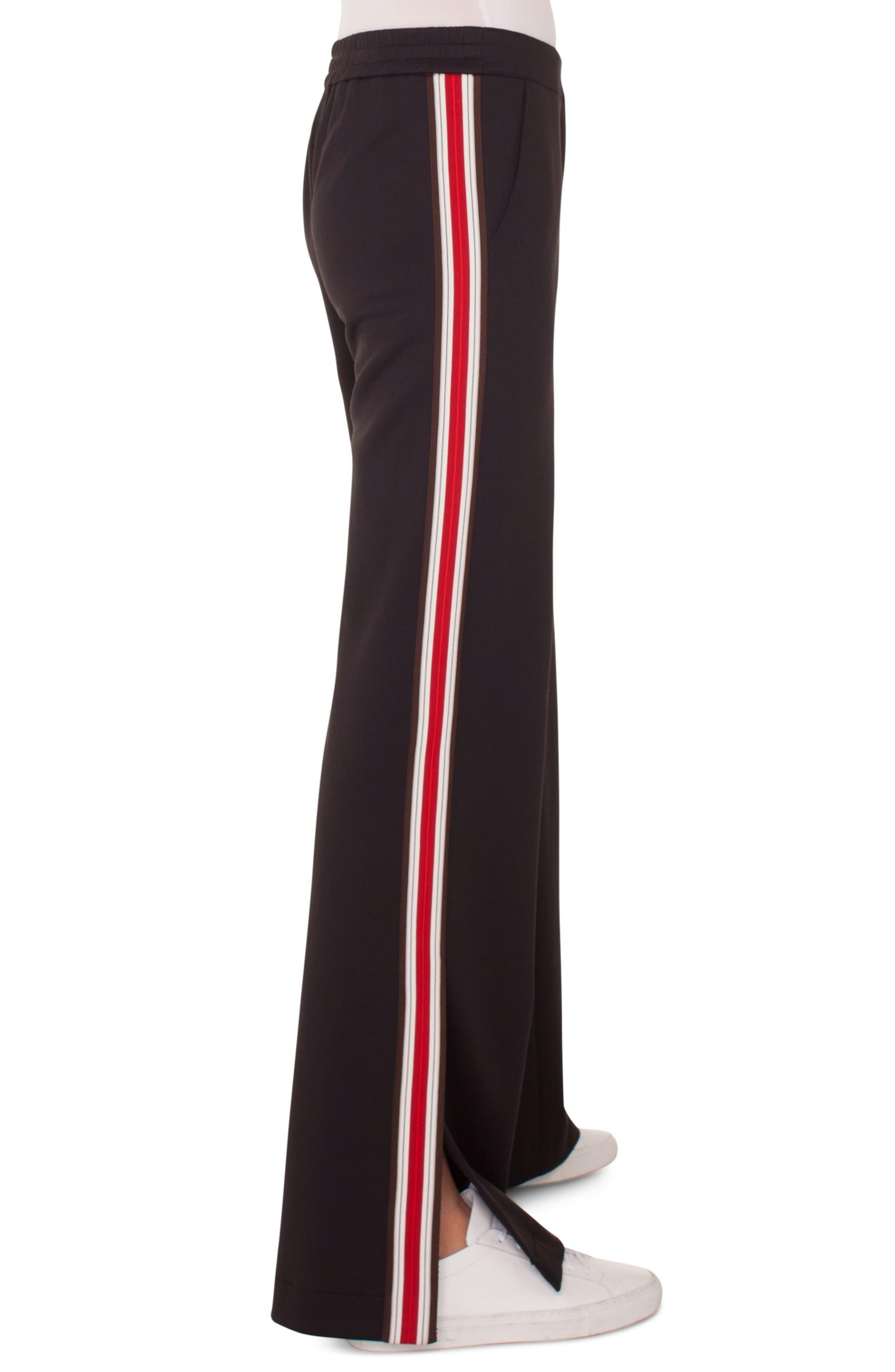 Side Stripe Trousers,                             Alternate thumbnail 3, color,                             BLACK