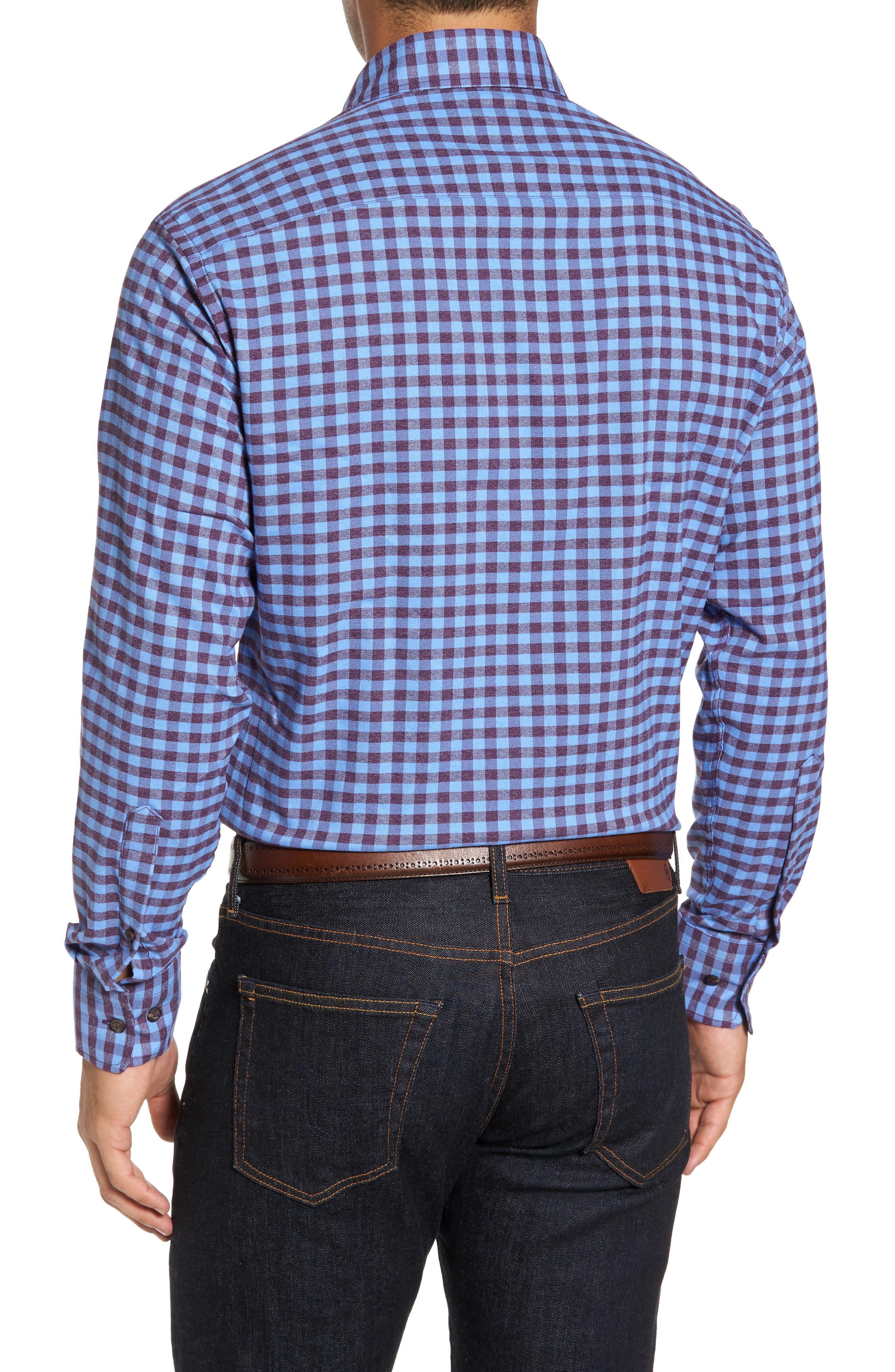 Vedder Gingham Regular Fit Performance Sport Shirt,                             Alternate thumbnail 6, color,