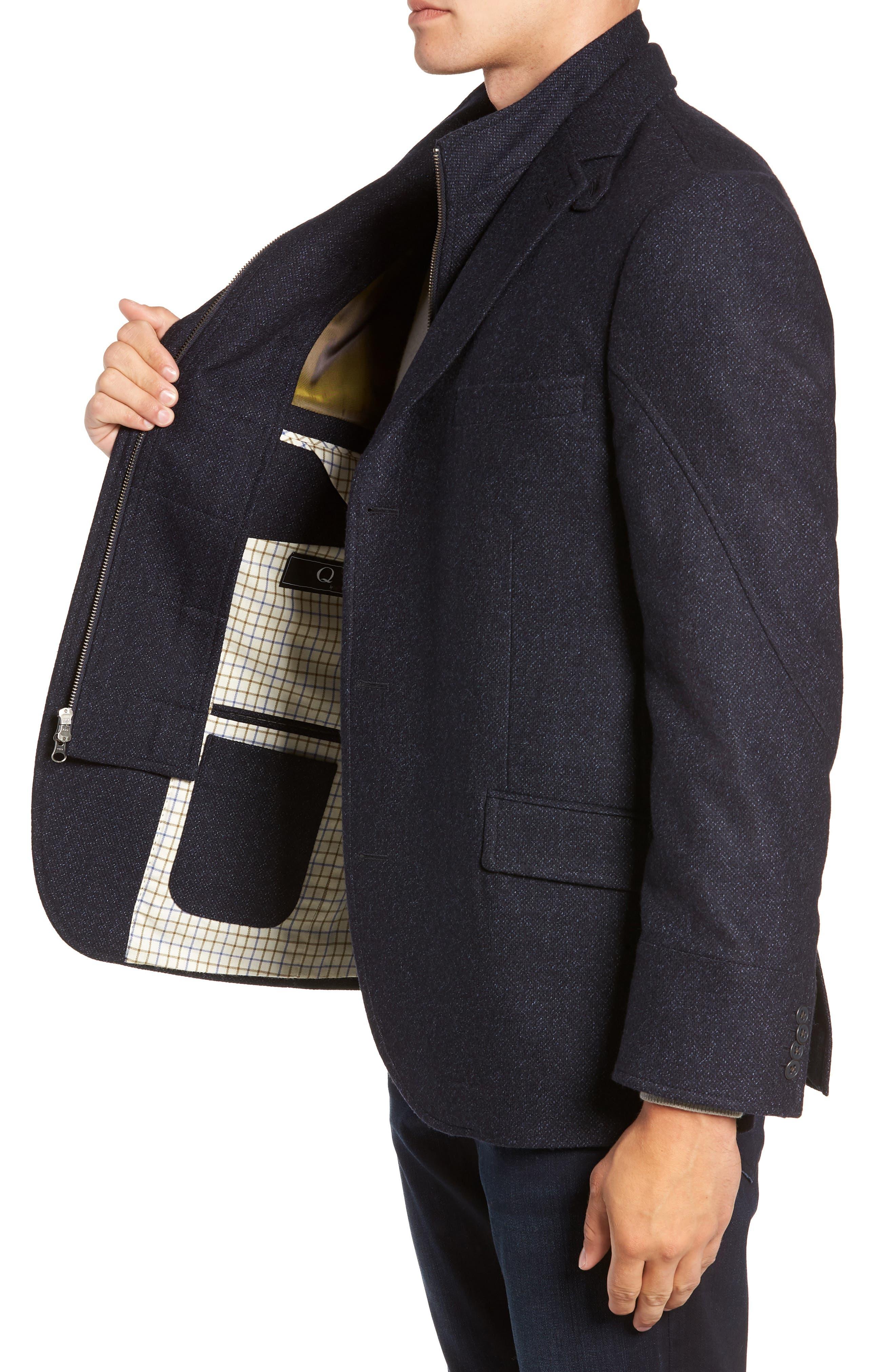 Hybrid Wool & Cashmere Sport Coat,                             Alternate thumbnail 3, color,                             BLUE