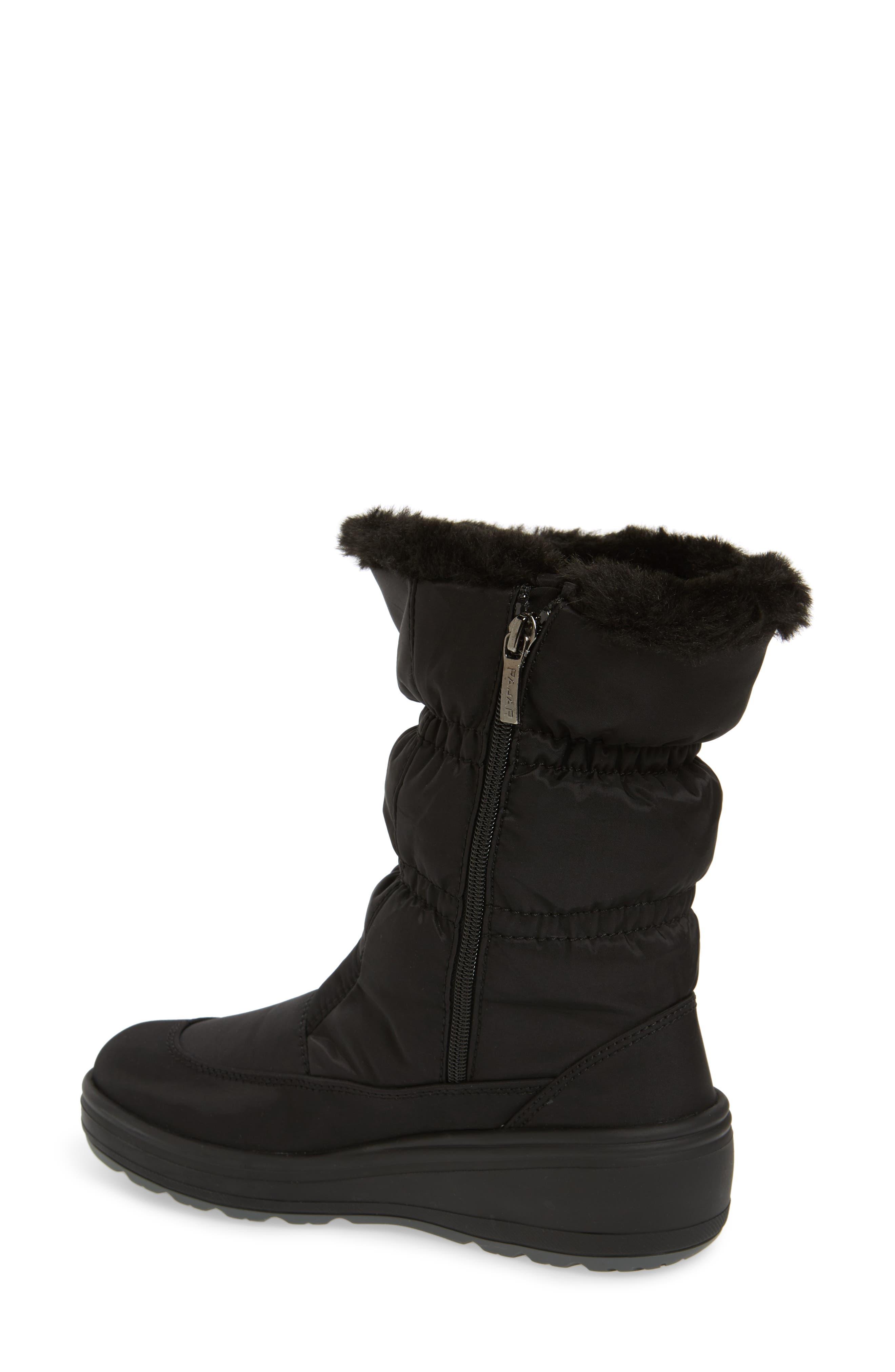 Snowcap Waterproof Insulated Winter Boot,                             Alternate thumbnail 2, color,                             BLACK FABRIC