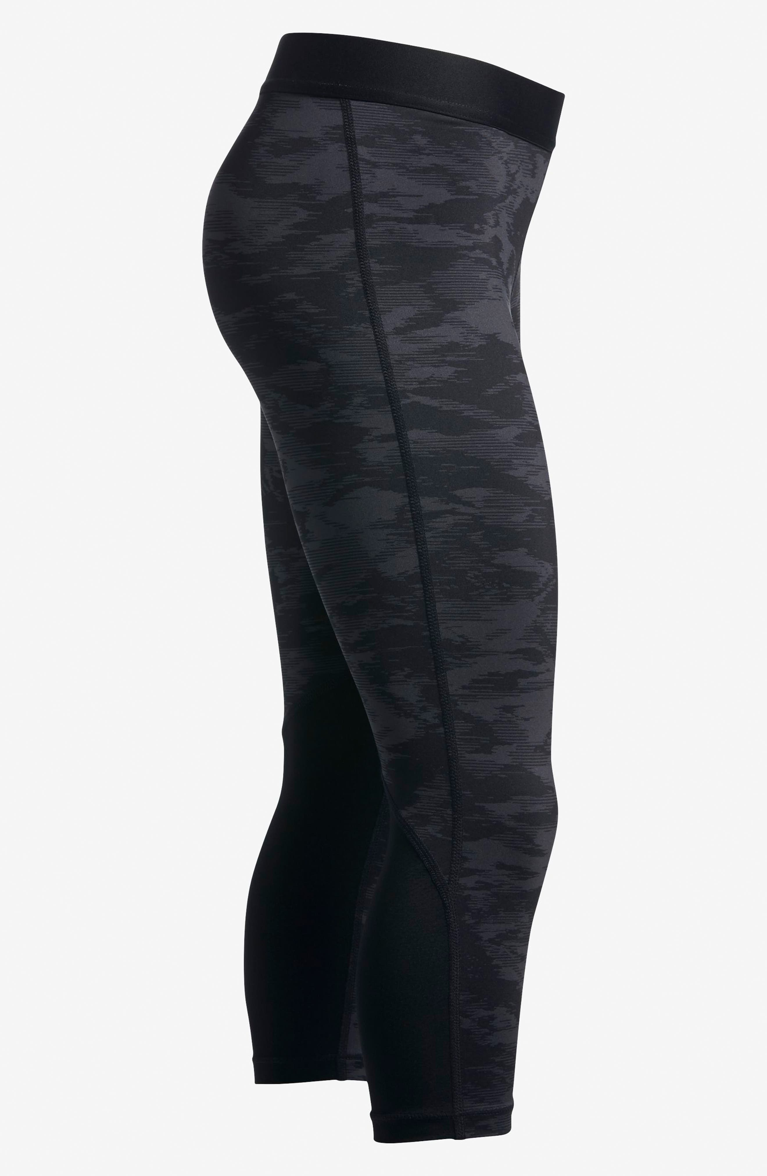 Pro Cool Crop Leggings,                             Alternate thumbnail 4, color,                             010