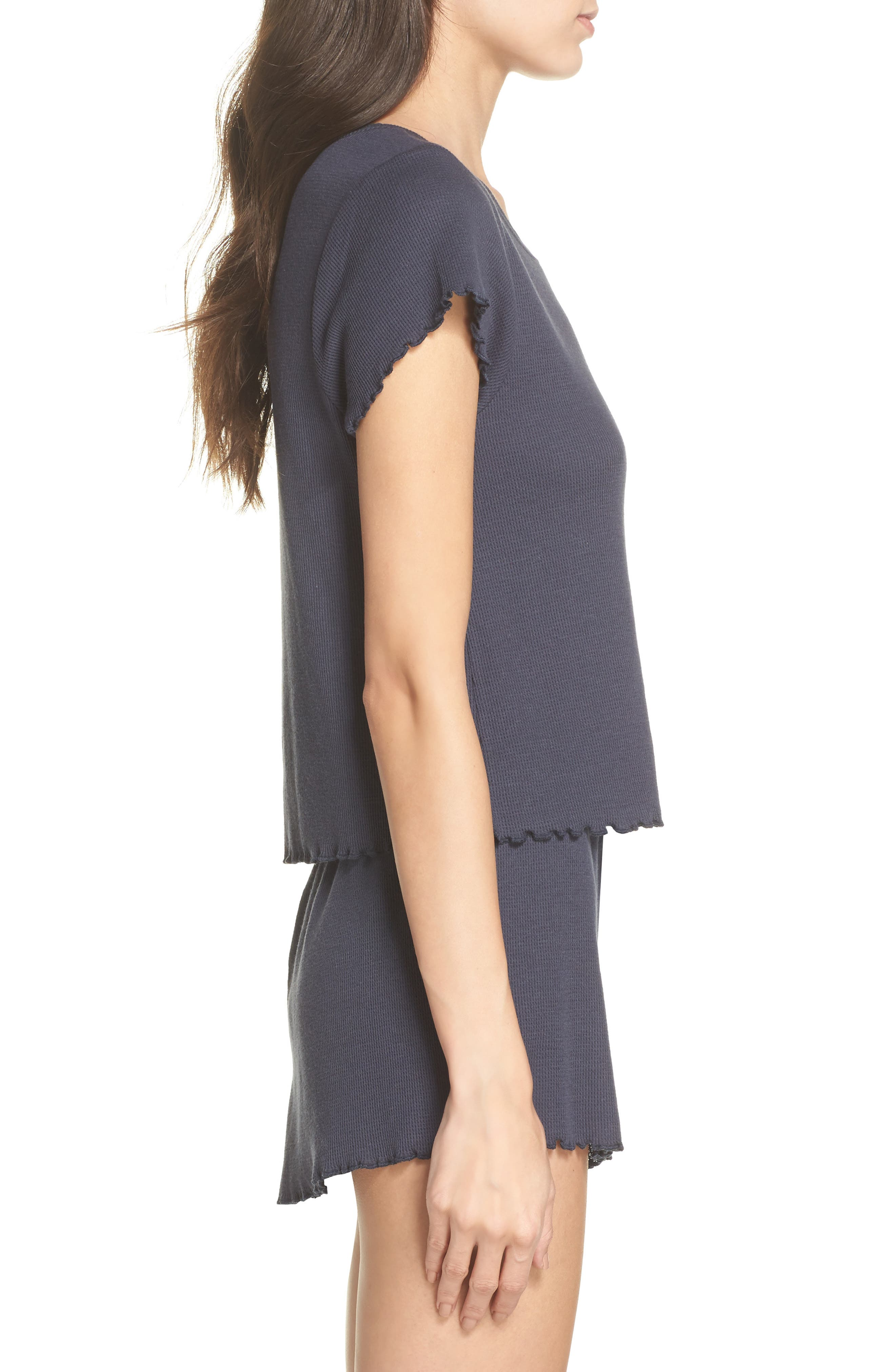 Thermal Short Pajamas,                             Alternate thumbnail 3, color,                             410