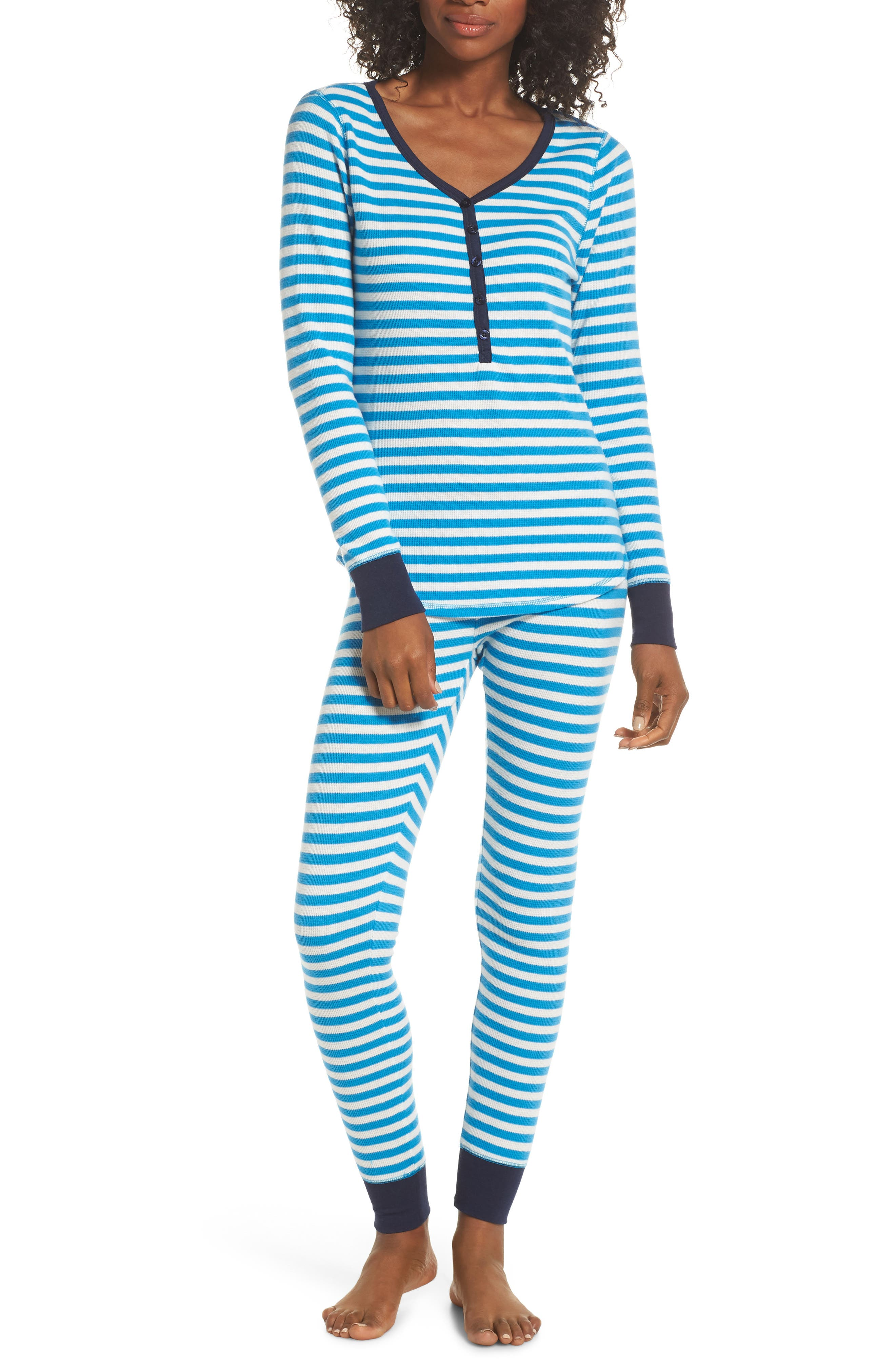 Nordstrom Lingerie Sleepyhead Thermal Pajamas, Blue