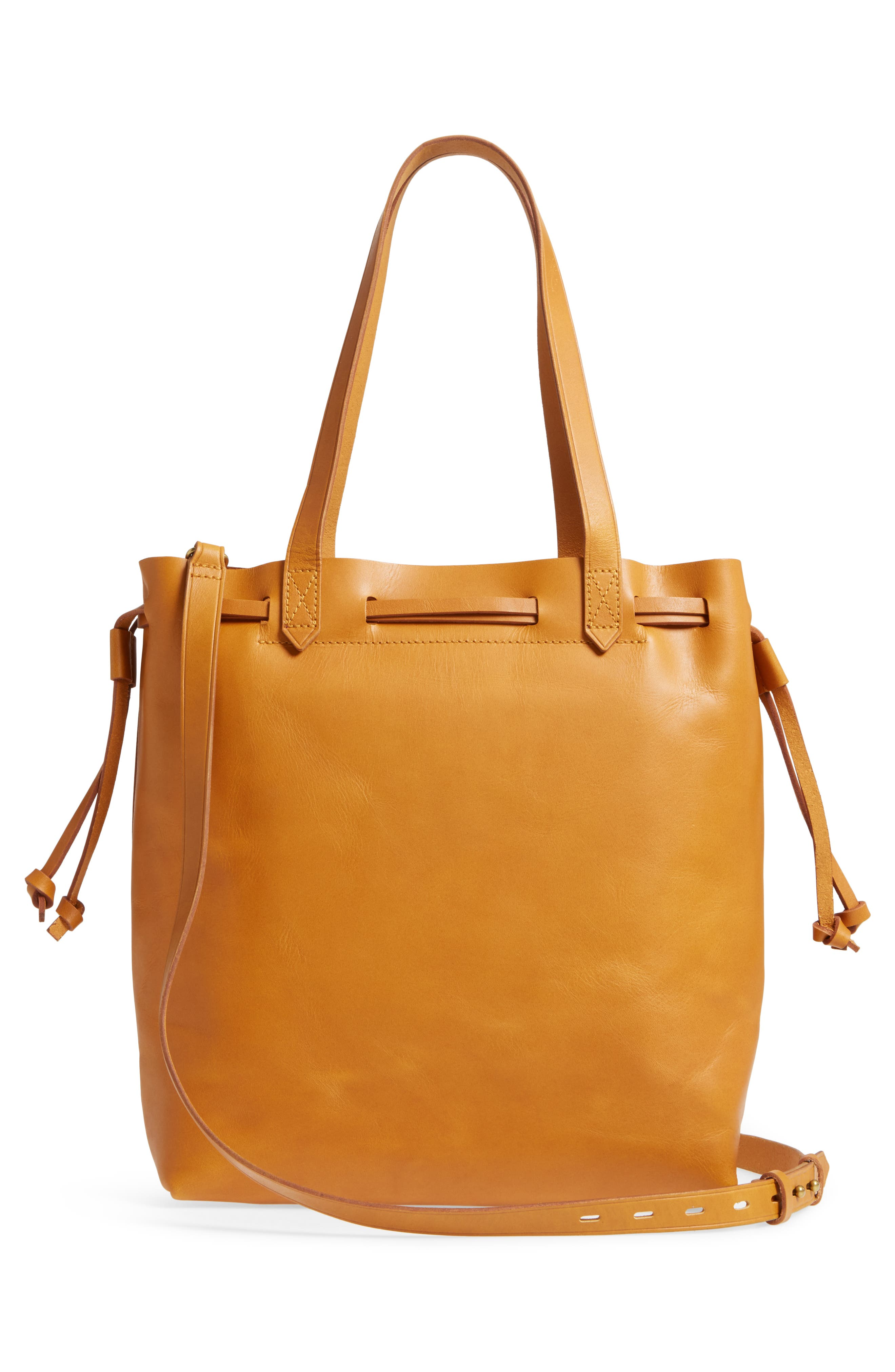 Drawcord Transport Leather Tote,                             Alternate thumbnail 3, color,                             250