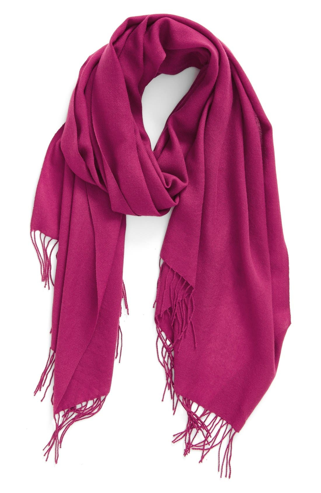 Tissue Weight Wool & Cashmere Scarf,                             Main thumbnail 46, color,
