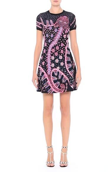 Leopard Stretch Knit Dress, video thumbnail