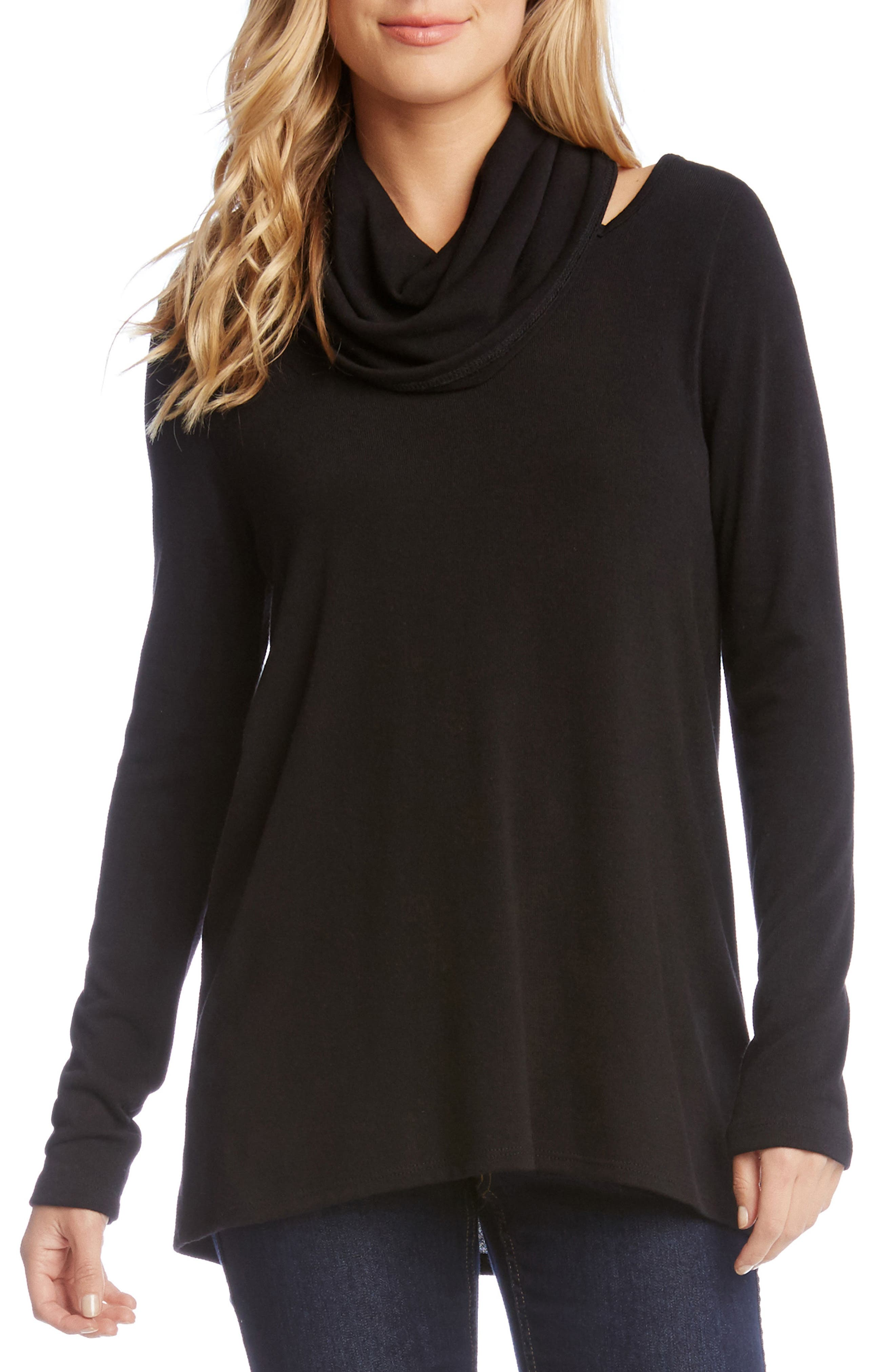 Cutout Cowl Neck Sweater,                         Main,                         color, 001