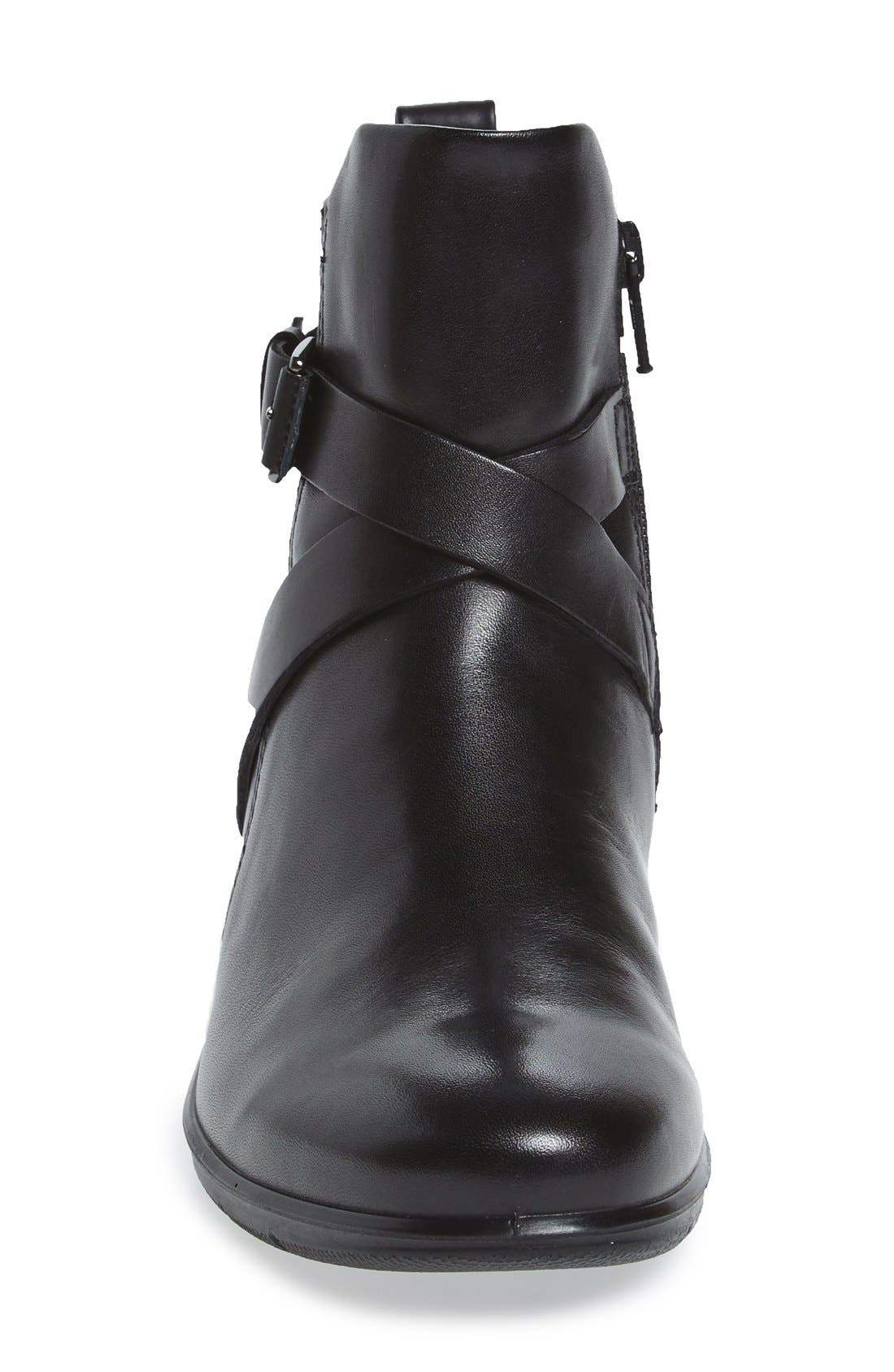 'Felicia' Strappy Zip-Up Wedge Bootie,                             Alternate thumbnail 3, color,                             008