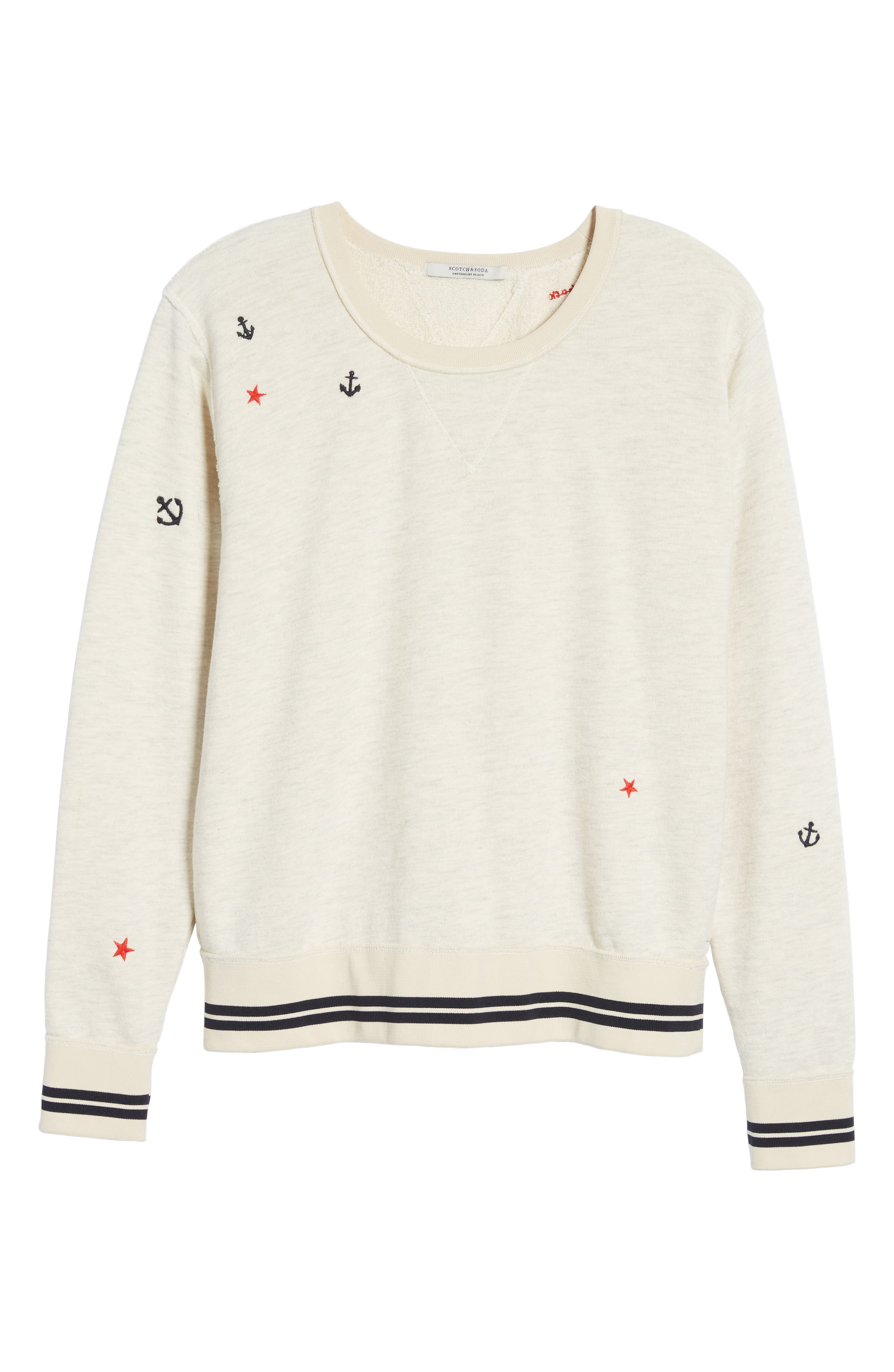 Nautical Sweatshirt,                             Alternate thumbnail 6, color,                             900