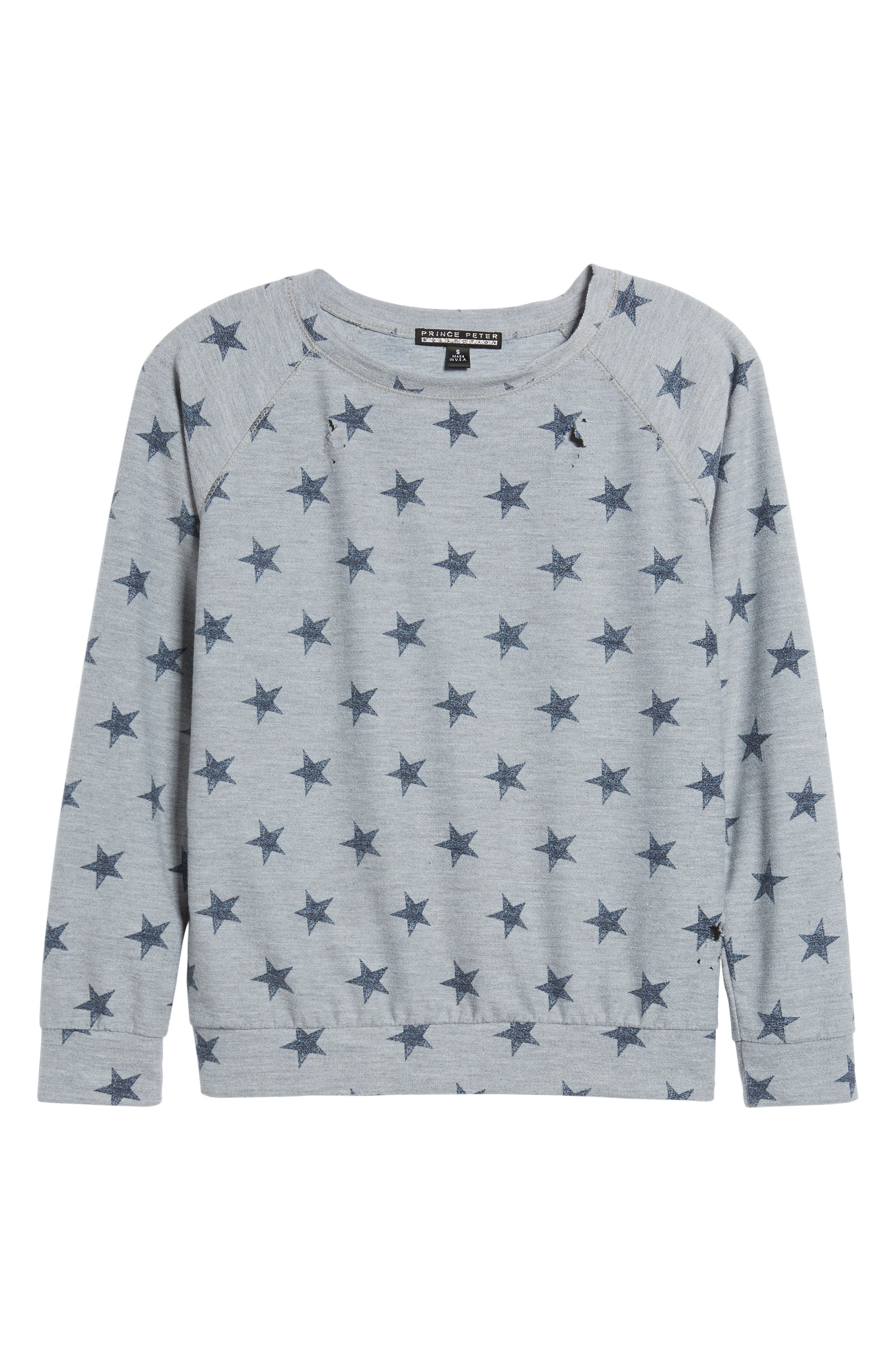 All Over Stars Pullover,                             Alternate thumbnail 6, color,                             020