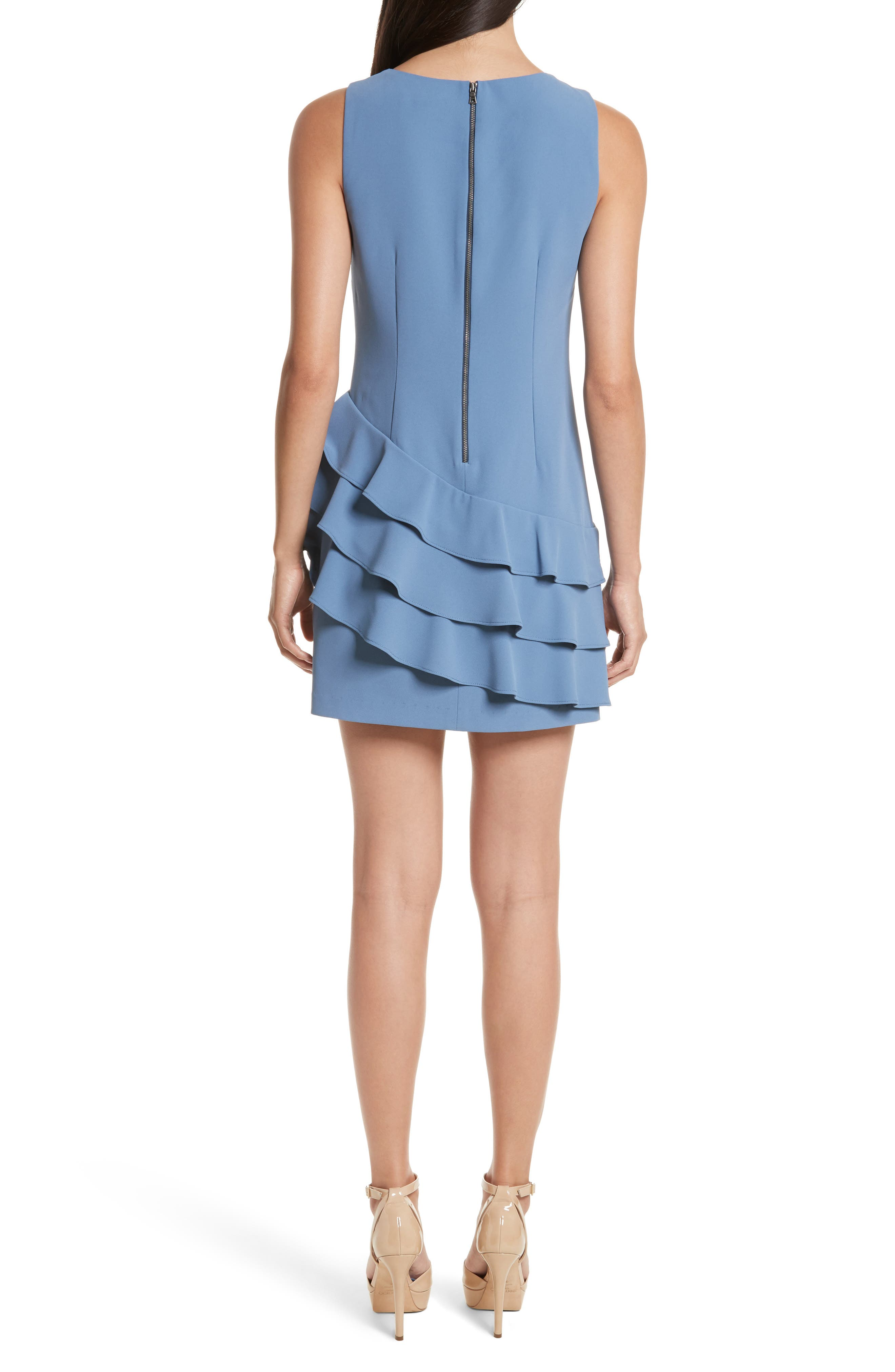 Clive Asymmetrical Ruffle A-Line Dress,                             Alternate thumbnail 2, color,                             402