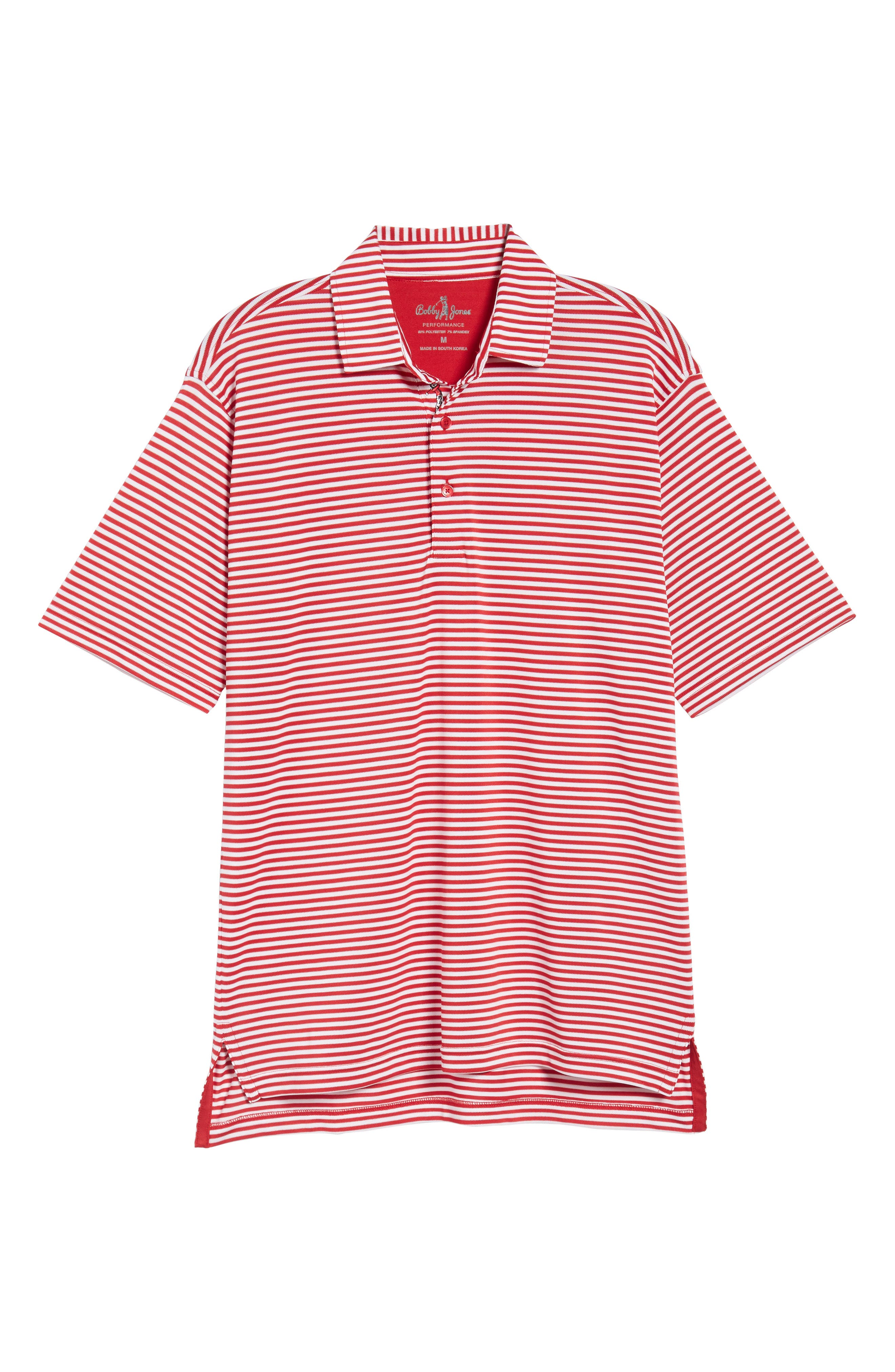 XH2O Feed Stripe Stretch Golf Polo,                             Alternate thumbnail 98, color,