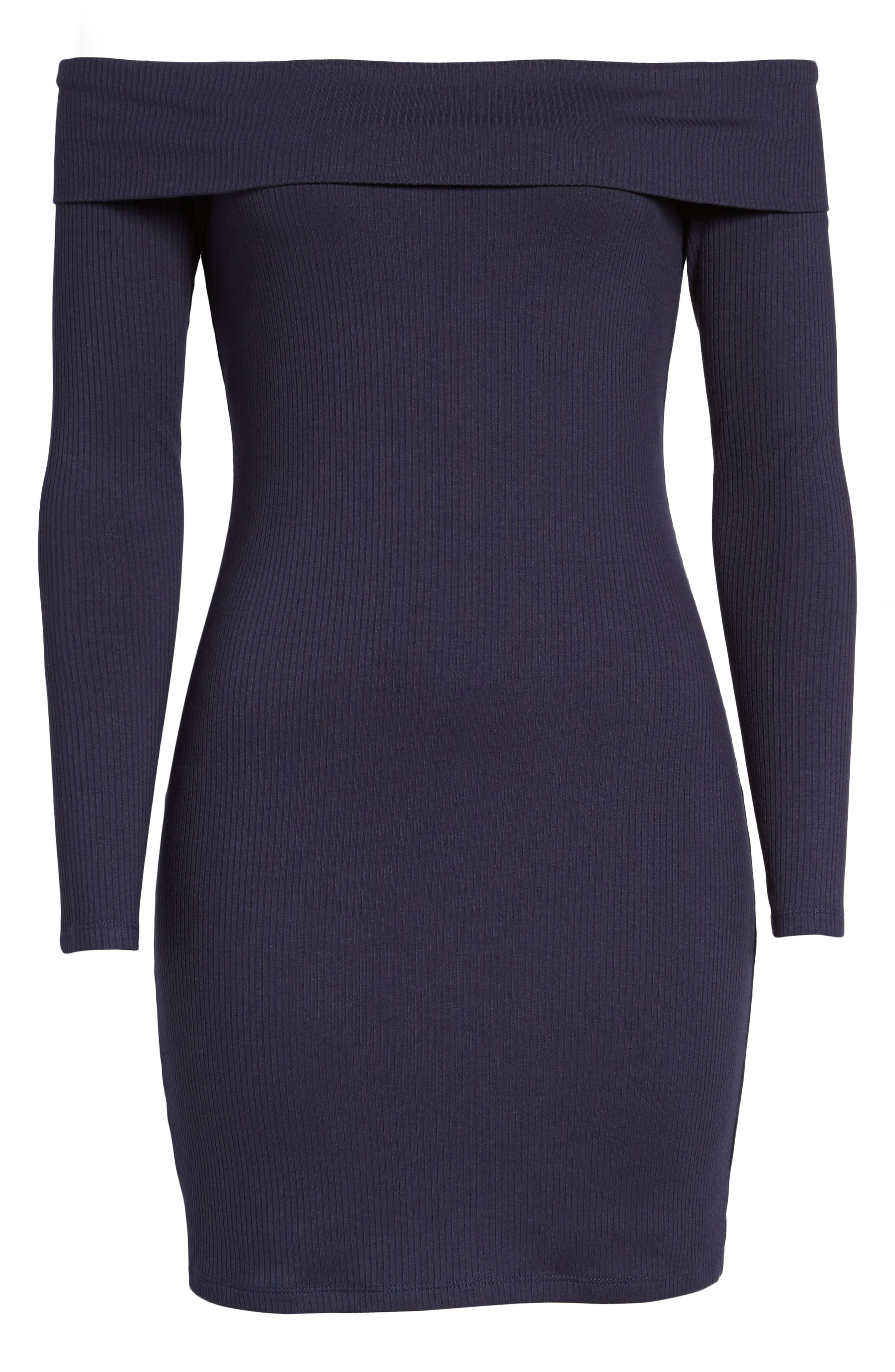 Silas Off the Shoulder Body-Con Dress,                             Alternate thumbnail 18, color,