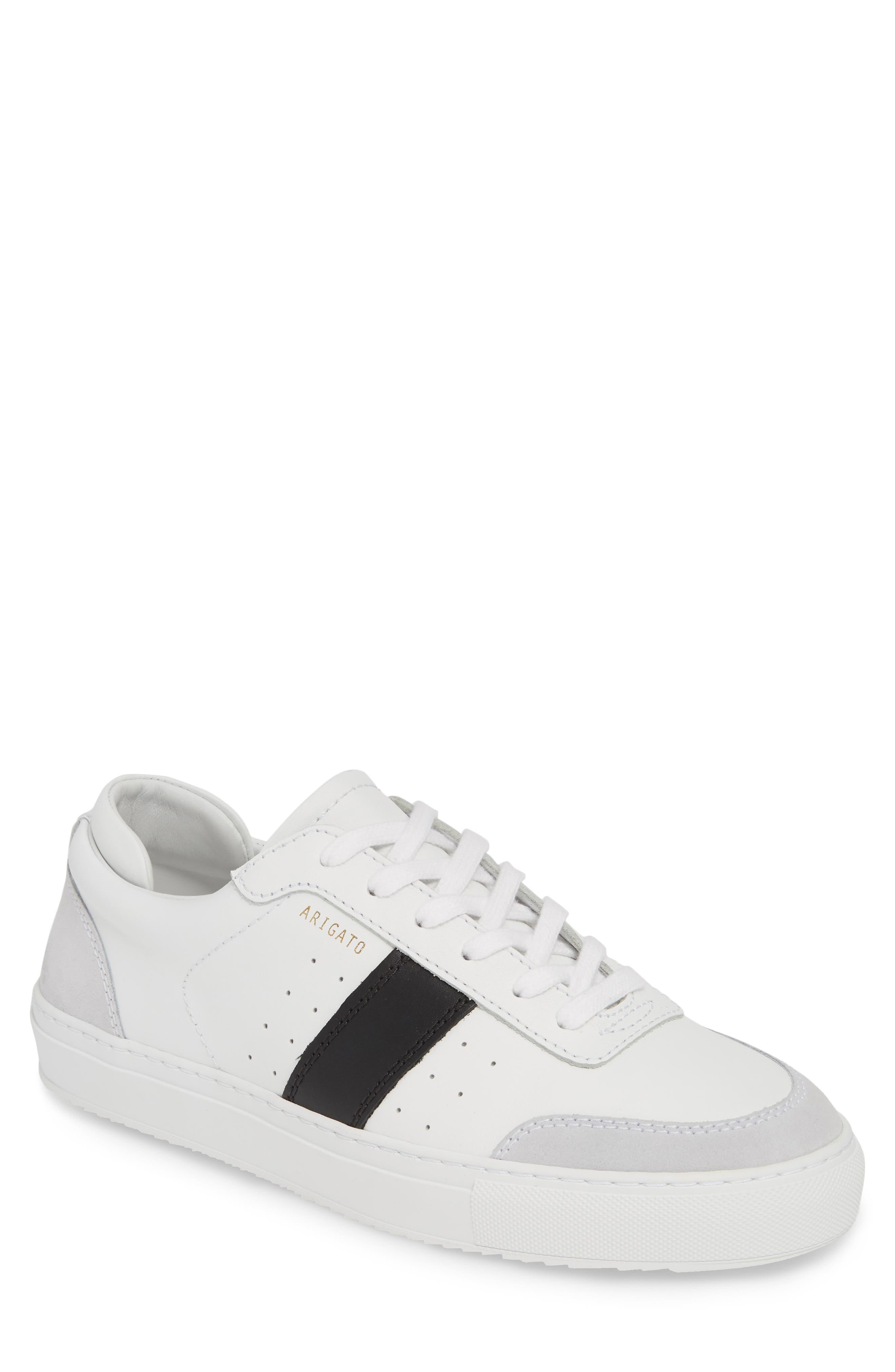 AXEL ARIGATO Dunk Sneaker, Main, color, WHITE W/ BLACK STRIPE