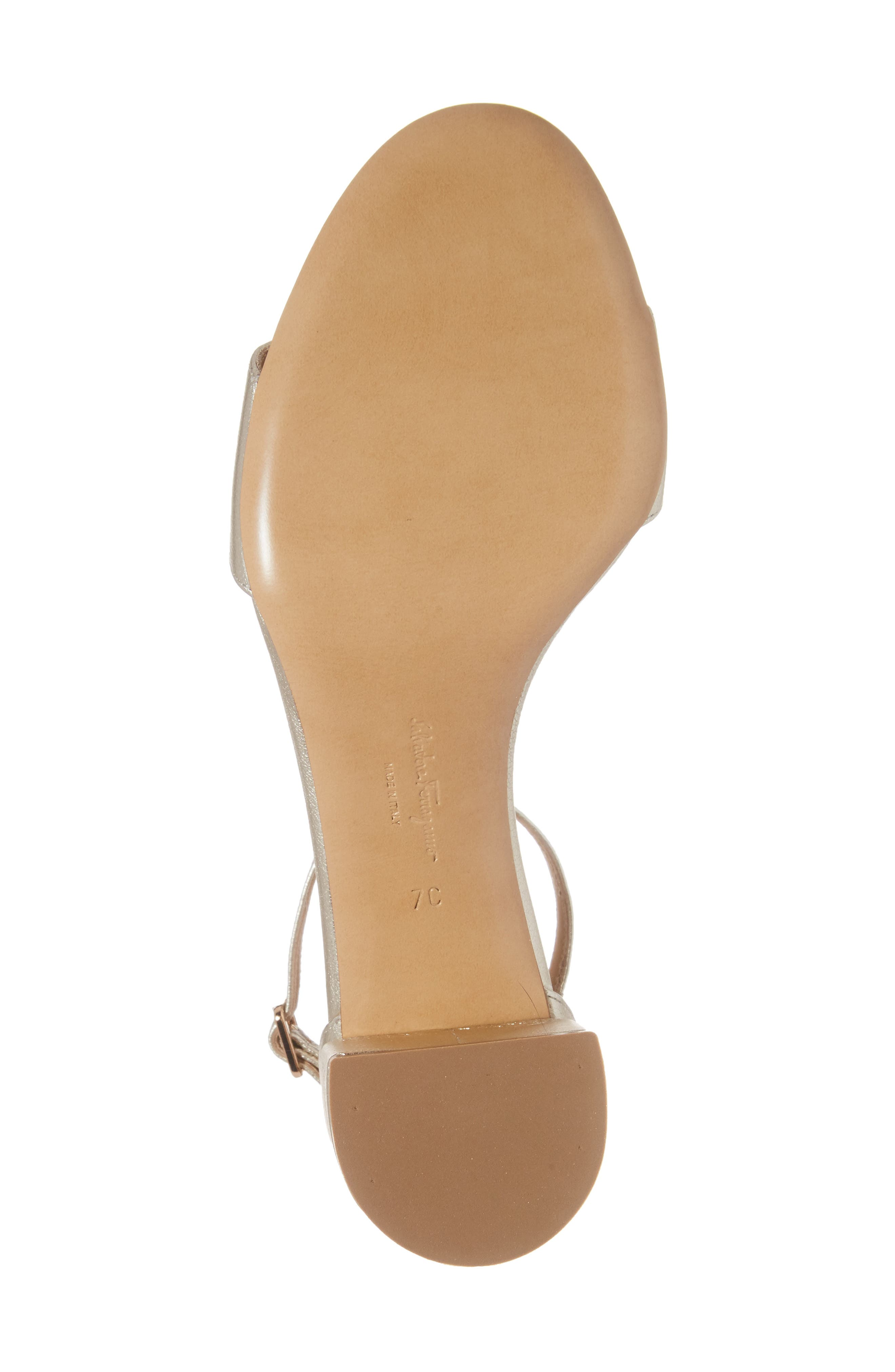 Gavina Block Heel Bow Sandal,                             Alternate thumbnail 6, color,                             METALLIC SILVER