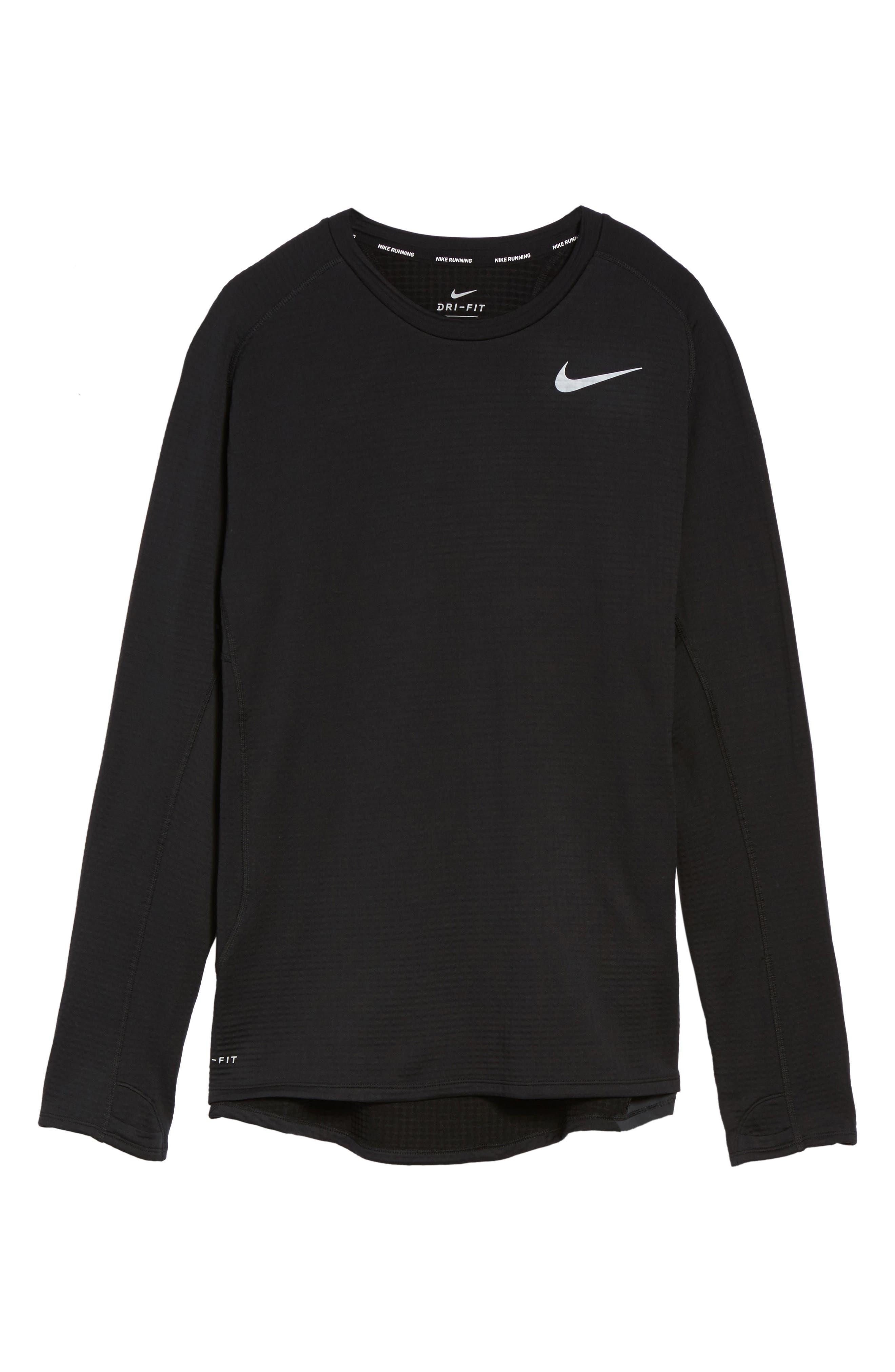 ThermaSphere Long Sleeve Running T-Shirt,                             Alternate thumbnail 6, color,                             011