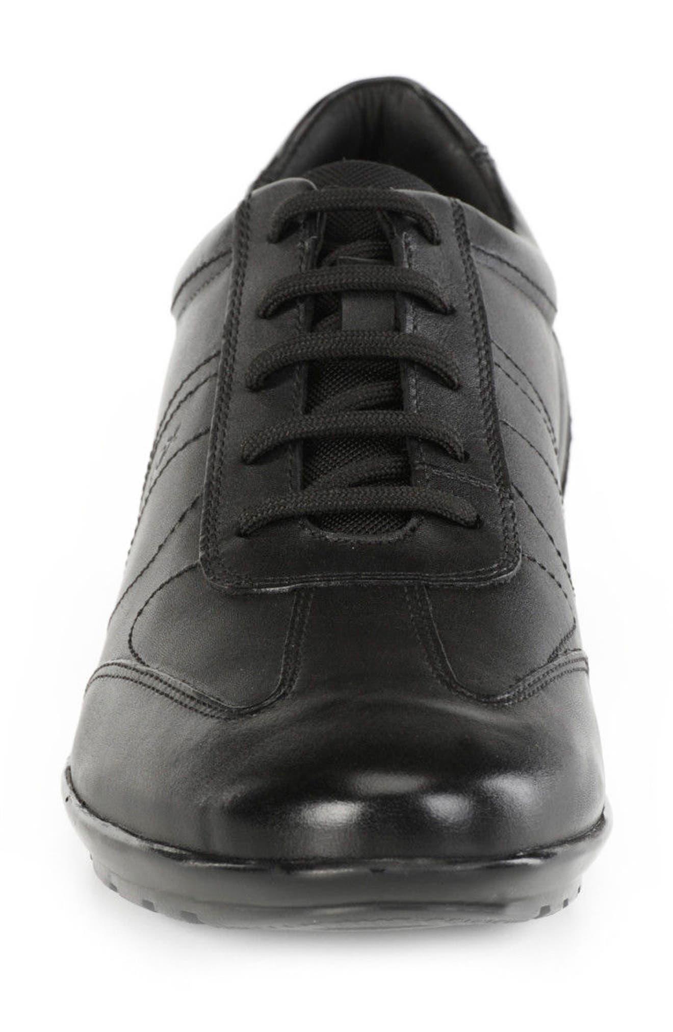 Symbol 19 Euro Sneaker,                             Alternate thumbnail 4, color,                             BLACK