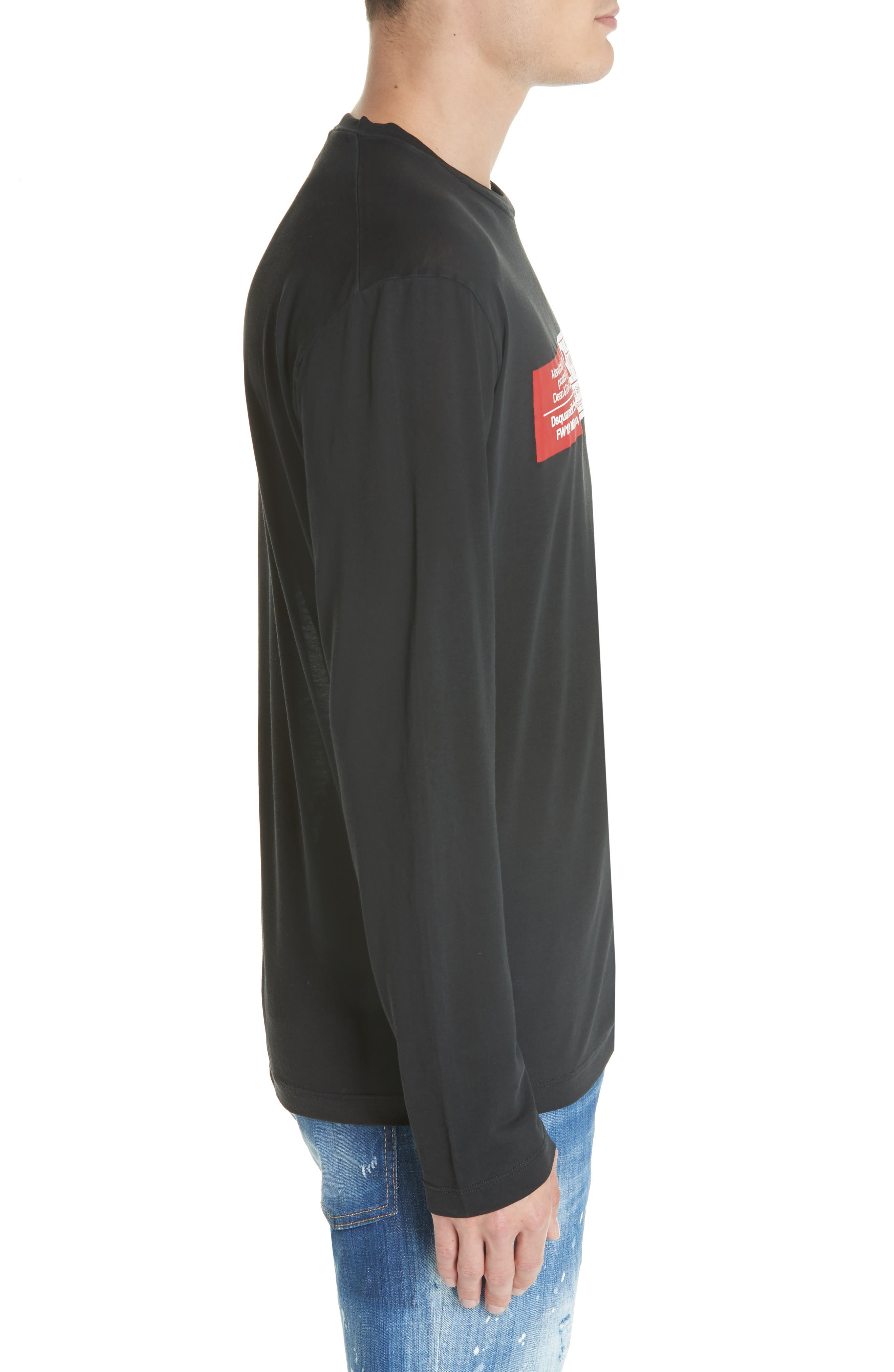 Rated R Graphic Long Sleeve T-Shirt,                             Alternate thumbnail 3, color,                             001
