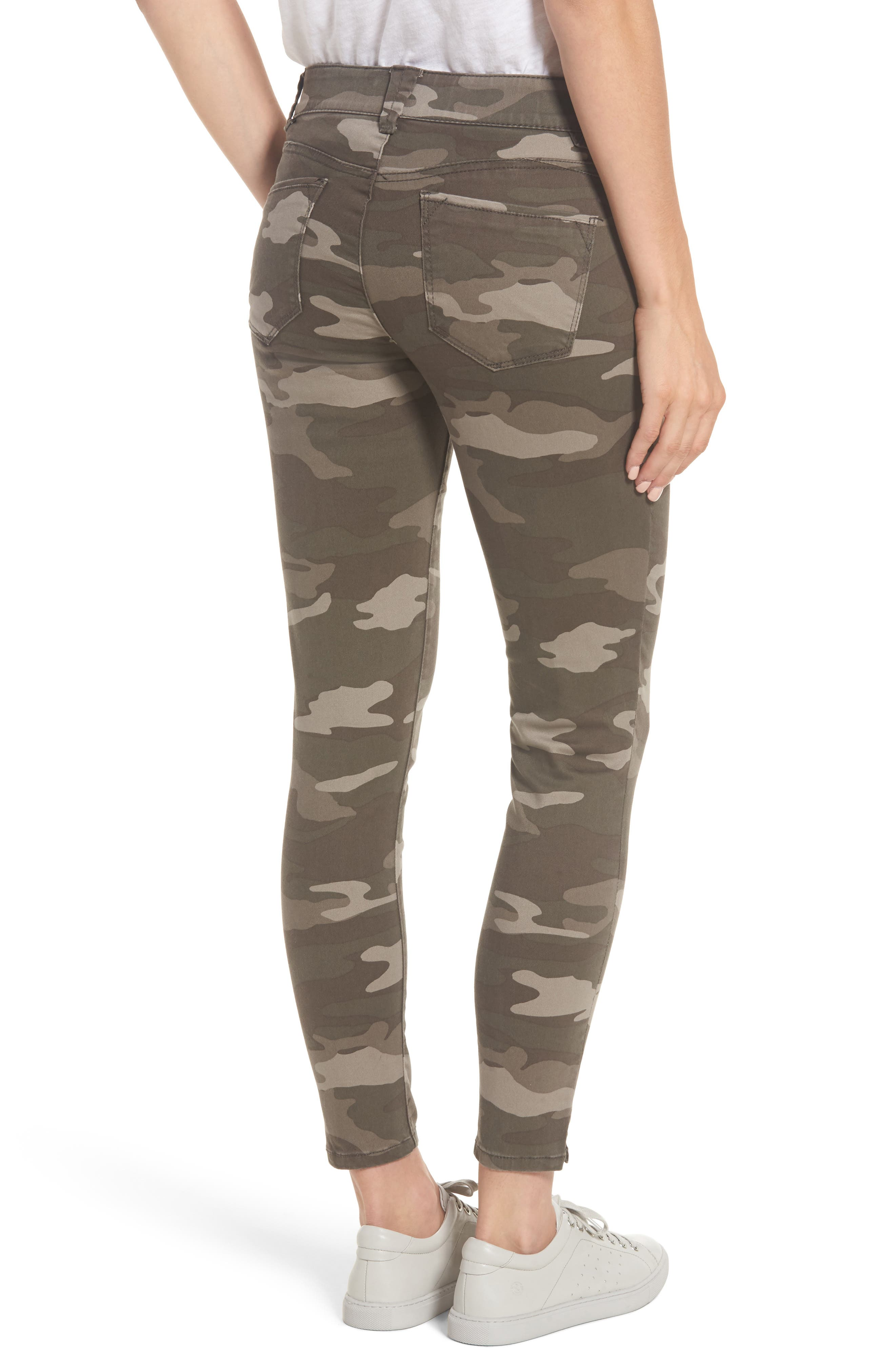 Ab-solution Camo Stretch Ankle Skinny Jeans,                             Alternate thumbnail 2, color,                             201