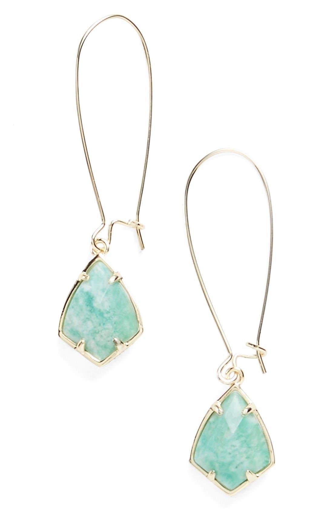 'Carrine' Semiprecious Stone Drop Earrings,                             Main thumbnail 7, color,