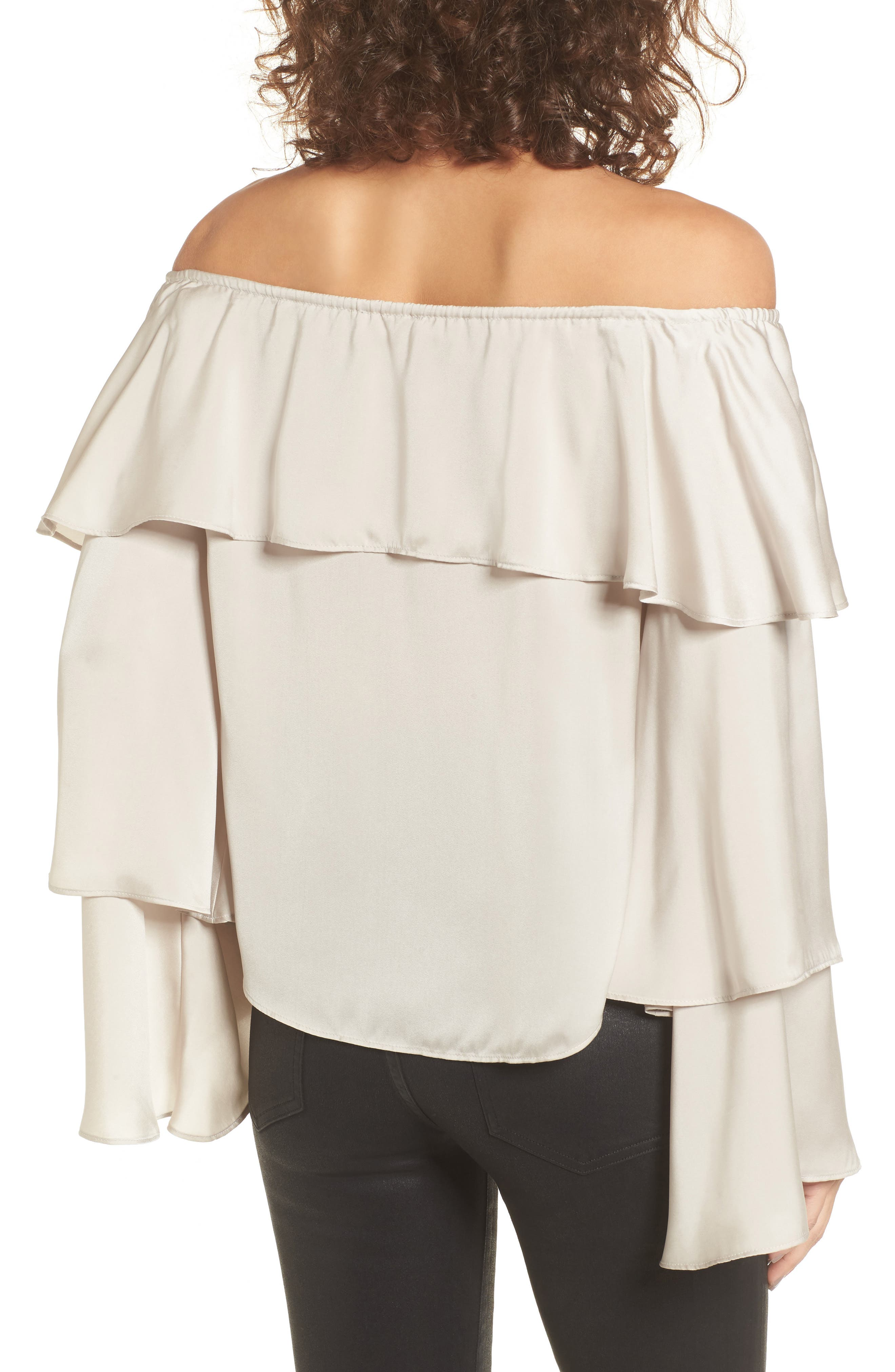 Off the Shoulder Ruffle Top,                             Alternate thumbnail 2, color,                             050