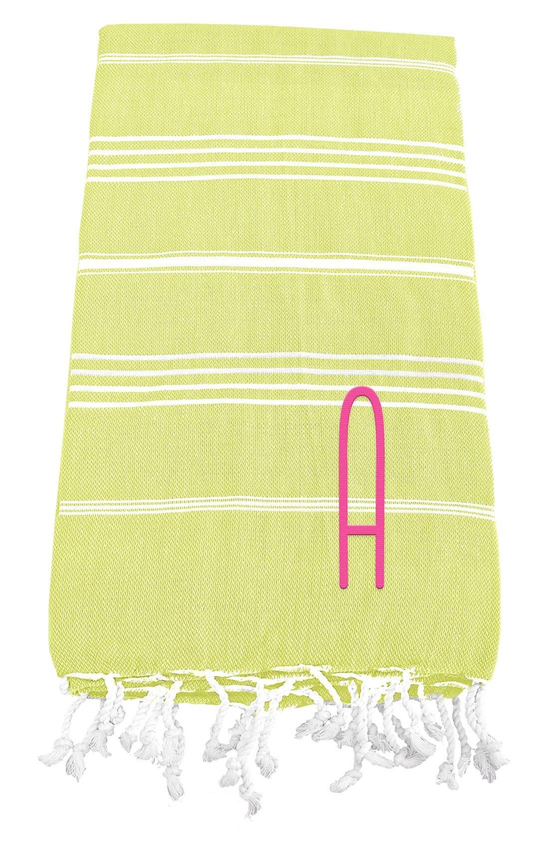 Monogram Turkish Cotton Towel,                             Main thumbnail 30, color,
